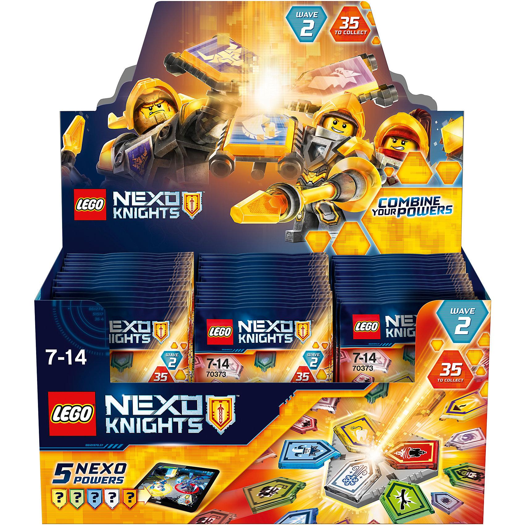 Конструктор Lego Nexo Knights 70373: Комбо-силы NexoПластмассовые конструкторы<br>Характеристики товара:<br><br>• возраст: от 7 лет;<br>• материал: пластик;<br>• в комплекте: 5 нексо-сил, подставка;<br>• размер упаковки: 14х9х1 см;<br>• вес упаковки: 15 гр.;<br>• страна производитель: Чехия.<br><br>Конструктор Lego Nexo Knights «Комбо-силы Nexo» входит в серию Лего Нексо Найтс, которая повествует о королевстве Найтония и отважных рыцарях Нексо. У каждого рыцаря имеется магическая сила, которая добавляет им способностей для победы над врагами. <br><br>В наборе представлены 5 магических нексо-сил. Каждую из них можно отсканировать в бесплатном приложении и поиграть в игру, где предстоит уничтожить грозную армию Каменных монстров. Все детали упакованы в непрозрачный пакет. Какие именно магические силы попадутся в наборе, станет для ребенка сюрпризом.<br><br>Конструктор Lego Nexo Knights «Комбо-силы Nexo» можно приобрести в нашем интернет-магазине.<br><br>Ширина мм: 10<br>Глубина мм: 90<br>Высота мм: 140<br>Вес г: 12<br>Возраст от месяцев: 84<br>Возраст до месяцев: 2147483647<br>Пол: Мужской<br>Возраст: Детский<br>SKU: 6771279