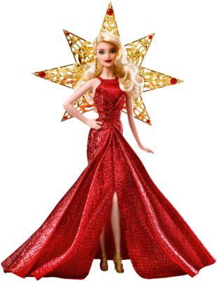 Mattel Кукла Barbie Праздничная в золотом платье