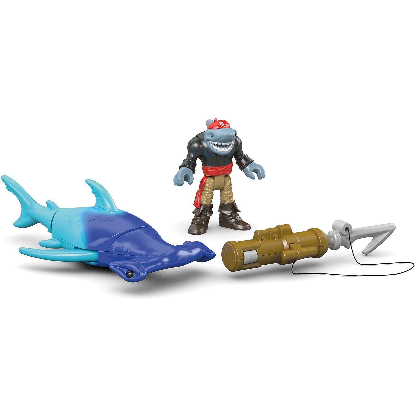 Базовая фигурка пирата Hammerhead Shark, Imaginext, Fisher PriceЛюбимые герои<br>Характеристики товара:<br><br>• возраст: от 3 лет;<br>• материал: пластик;<br>• в комплекте: фигурка, аксессуары;<br>• размер упаковки: 16х19х6,5 см;<br>• вес упаковки: 213 гр.;<br>• страна производитель: Китай.<br><br>Базовая фигурка пирата Hammerhead Shark Imaginext Fisher Price позволит детям устроить невероятные интересные игры про пиратов. В комплекте фигурка пирата-акулы, у которой подвижные руки и ноги, и грозная акула-молот. В руках у пирата оружие. Игрушка выполнена из качественного безопасного пластика.<br><br>Базовую фигурку пирата Hammerhead Shark Imaginext Fisher Price можно приобрести в нашем интернет-магазине.<br><br>Ширина мм: 160<br>Глубина мм: 65<br>Высота мм: 190<br>Вес г: 213<br>Возраст от месяцев: 36<br>Возраст до месяцев: 96<br>Пол: Мужской<br>Возраст: Детский<br>SKU: 6771822