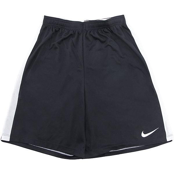 Шорты для спорта NIKEСпортивная форма<br>Шорты для спорта NIKE<br>Шорты Nike Y Nk Dry. Ткань Nike Dry отводит влагу на поверхность ткани, где она быстро испаряется, обеспечивая комфорт. Плоский шнур-кулиса обеспечивает заниженную индивидуальную посадку. Легендарные боковые полоски из дышащей сетки.<br>Состав:<br>полиэстер 100%<br>Ширина мм: 191; Глубина мм: 10; Высота мм: 175; Вес г: 273; Цвет: черный; Возраст от месяцев: 108; Возраст до месяцев: 120; Пол: Унисекс; Возраст: Детский; Размер: 134/140,146/158,158/170,128/134,122/128; SKU: 6772125;