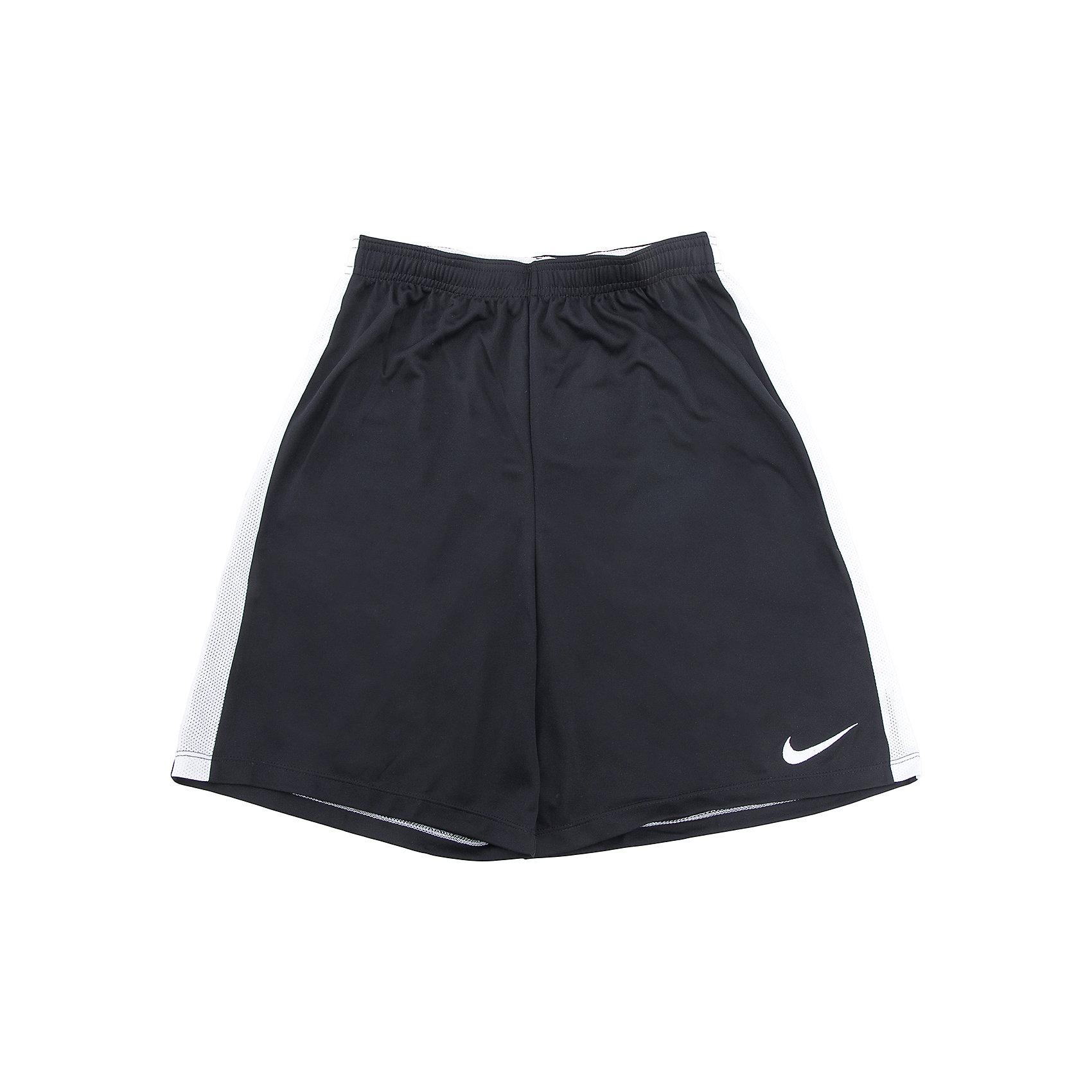 Шорты для спорта NIKEШорты, бриджи, капри<br>Шорты для спорта NIKE<br>Шорты Nike Y Nk Dry. Ткань Nike Dry отводит влагу на поверхность ткани, где она быстро испаряется, обеспечивая комфорт. Плоский шнур-кулиса обеспечивает заниженную индивидуальную посадку. Легендарные боковые полоски из дышащей сетки.<br>Состав:<br>полиэстер 100%<br><br>Ширина мм: 191<br>Глубина мм: 10<br>Высота мм: 175<br>Вес г: 273<br>Цвет: черный<br>Возраст от месяцев: 144<br>Возраст до месяцев: 156<br>Пол: Унисекс<br>Возраст: Детский<br>Размер: 147/158,158/170,122/128,128/134,135/140<br>SKU: 6772125