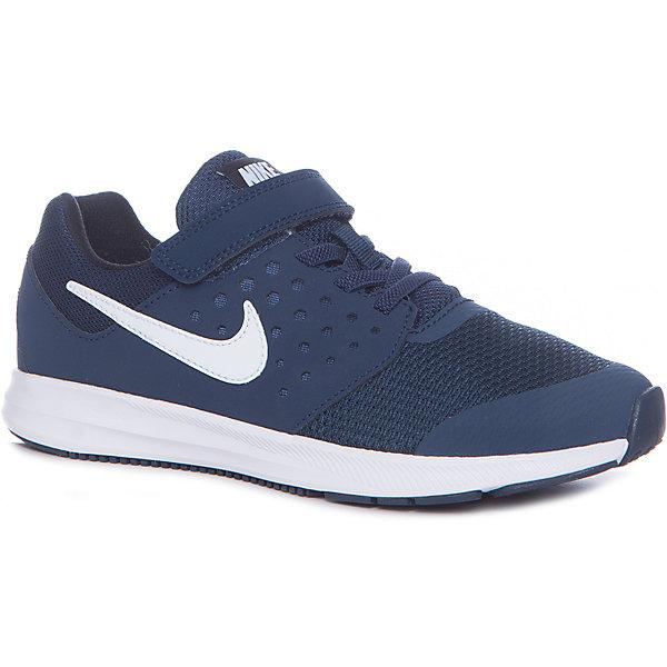 Кроссовки NIKEКроссовки<br>Кроссовки NIKE<br>Обувь спортивная Nike Downshifter 7. Промежуточная подошва из материала Phylon обеспечивает хорошую амортизацию. Канавки Flex Grooves позволяют обуви легко сгибаться, даря свободу и естественность движений. Подошва из износостойкой резины для отличного сцепления с поверхностью. Бесшовная конструкция для комфорта и поддержки ноги. Легкий сетчатый верх гарантирует превосходный воздухообмен.<br>Состав:<br>верх: кожа 48%, текстиль 36%,, синт.кожа 16%, внутри: текстиль 100%,, подошва: резина 90%, пластик 10%<br><br>Ширина мм: 250<br>Глубина мм: 150<br>Высота мм: 150<br>Вес г: 250<br>Цвет: синий<br>Возраст от месяцев: 108<br>Возраст до месяцев: 120<br>Пол: Унисекс<br>Возраст: Детский<br>Размер: 33,31,34,33.5,32,31.5,30,29,28.5,28,27.5,26.5<br>SKU: 6772147
