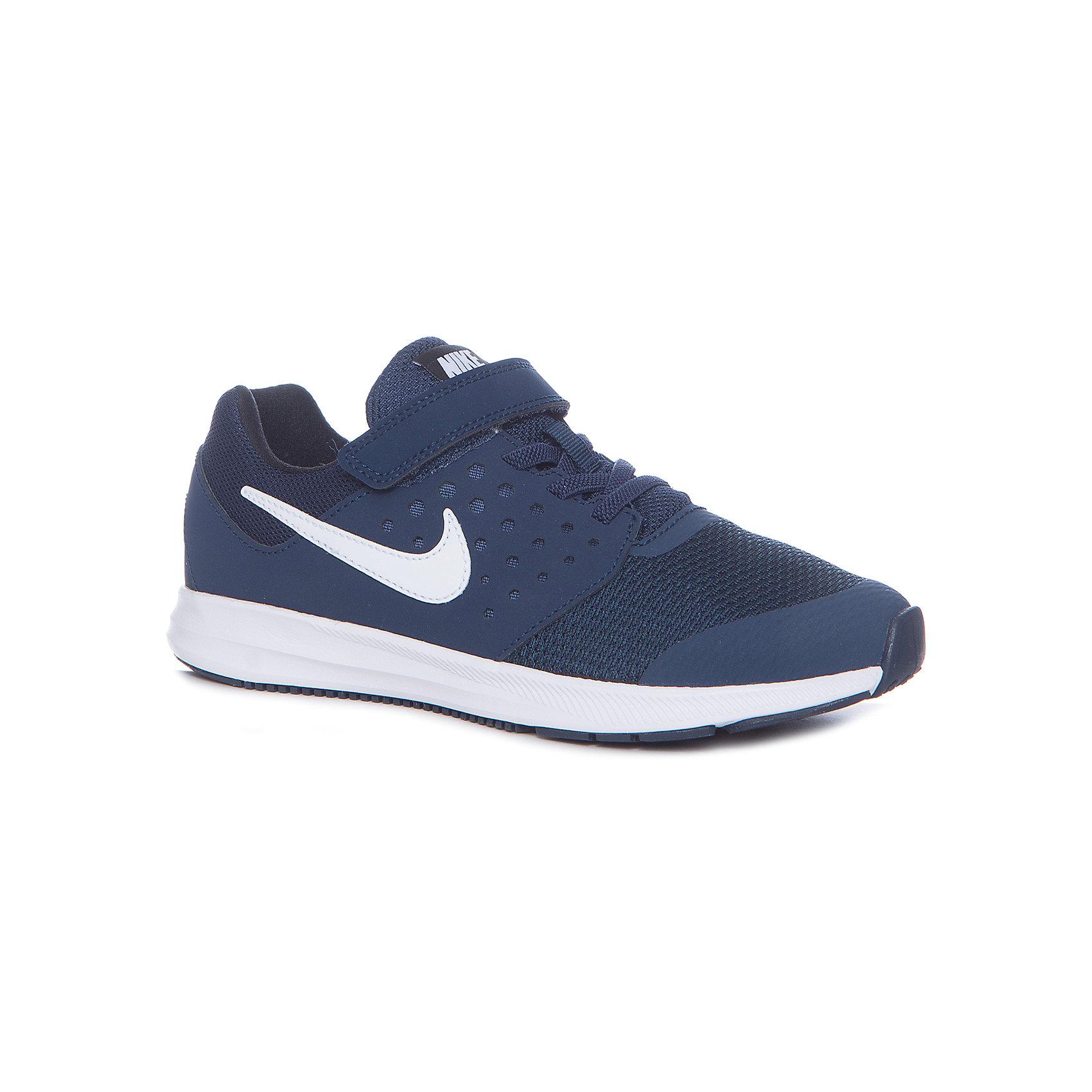 Кроссовки NIKEКроссовки<br>Кроссовки NIKE<br>Обувь спортивная Nike Downshifter 7. Промежуточная подошва из материала Phylon обеспечивает хорошую амортизацию. Канавки Flex Grooves позволяют обуви легко сгибаться, даря свободу и естественность движений. Подошва из износостойкой резины для отличного сцепления с поверхностью. Бесшовная конструкция для комфорта и поддержки ноги. Легкий сетчатый верх гарантирует превосходный воздухообмен.<br>Состав:<br>верх: кожа 48%, текстиль 36%,, синт.кожа 16%, внутри: текстиль 100%,, подошва: резина 90%, пластик 10%<br><br>Ширина мм: 250<br>Глубина мм: 150<br>Высота мм: 150<br>Вес г: 250<br>Цвет: синий<br>Возраст от месяцев: 36<br>Возраст до месяцев: 48<br>Пол: Унисекс<br>Возраст: Детский<br>Размер: 26.5,31,34,33.5,33,32,31.5,30,29,28.5,28,27.5<br>SKU: 6772147