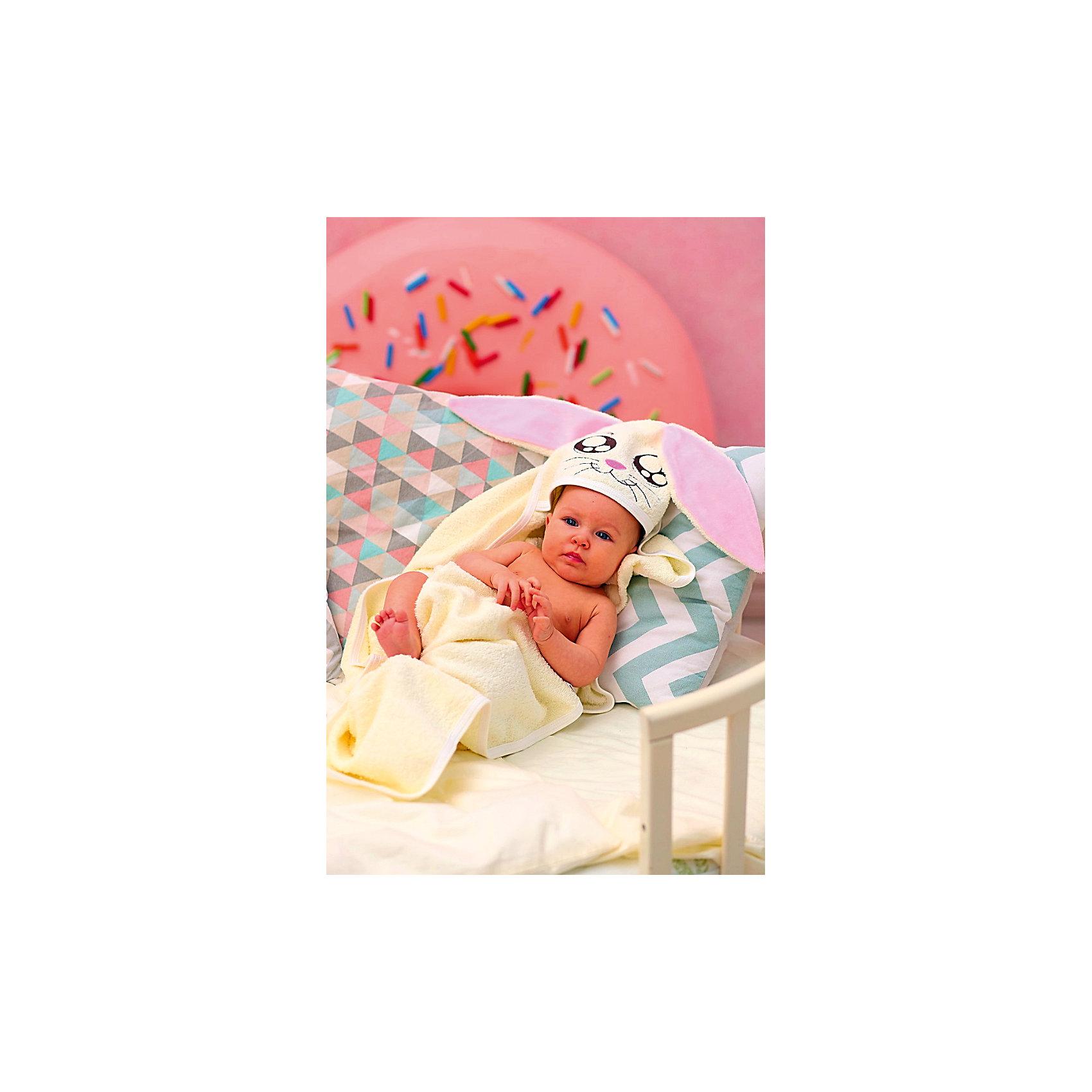 Полотенце с капюшоном Зайки Fun Dry, Twinklbaby, бежево-розовыйПолотенца, мочалки, халаты<br>Полотенце с капюшономFUN DRY ЗАЙКИ, цвет Светло-бежевый с розовыми ушками<br><br>Ширина мм: 370<br>Глубина мм: 340<br>Высота мм: 10<br>Вес г: 300<br>Возраст от месяцев: 1<br>Возраст до месяцев: 60<br>Пол: Унисекс<br>Возраст: Детский<br>SKU: 6772413