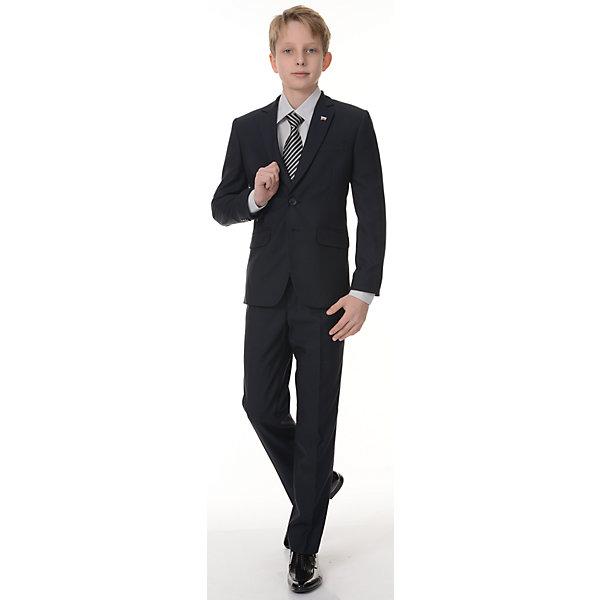 Пиджак Президент для мальчика SkylakeПиджаки и костюмы<br>Характеристики товара:<br><br>• цвет: синий<br>• материал: 80% полиэстер, 20% вискоза; <br>• подкладка: 47% вискоза, 53% полиэстер<br>• сезон: демисезон<br>• прилегающий силуэт<br>• однобортный<br>• воротник отложной<br>• карман<br>• на подкладке<br>• застежки: пуговицы<br>• страна бренда: Российская Федерация<br>• страна производства: Российская Федерация<br><br>Школьный пиджак для мальчика. Классический пиджак изготовлен из ткани синего цвета. Однобортный  пиджак прилегающего силуэта с застежкой<br>на 2 петли и пуговицы. Лацканы пиджака удлиненные узкие. Края  борта со скосом от второй нижней пуговицы и закруглением к линии низа.  <br><br>Полочки с  вытачками,  отрезными боковыми частями и боковыми косыми прорезными  карманами в «рамку»  с клапанами. На левой полочке нагрудный  карман в листочку. Спинка со средним швом и  двумя шлицами.<br><br>Рукава втачные, двухшовные с тремя пуговицами внизу по линии локтевого шва. Воротник отложной,  верхний воротник со стойкой, нижний воротник из  фильца. Пиджак на подкладке  с  одним  внутренним  прорезным  карманом  «в рамку» из основной ткани на левой полочке. <br><br>Пиджак Президент для мальчика от бренда SKY LAKE (Скай Лэйк) можно купить в нашем интернет-магазине.<br><br>Ширина мм: 190<br>Глубина мм: 74<br>Высота мм: 229<br>Вес г: 236<br>Цвет: синий<br>Возраст от месяцев: 96<br>Возраст до месяцев: 108<br>Пол: Мужской<br>Возраст: Детский<br>Размер: 134,128,158,140<br>SKU: 6772641