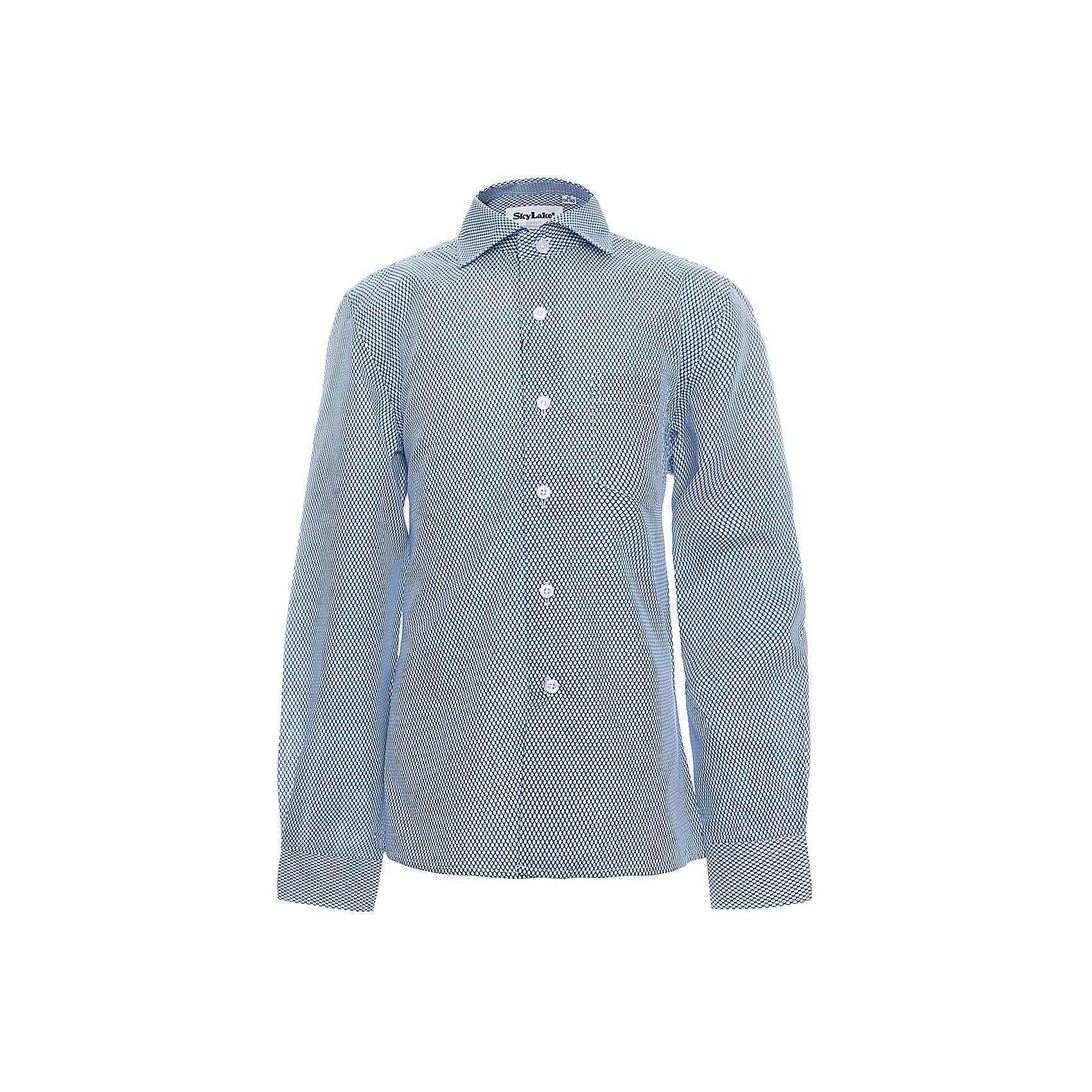 Рубашка CLASSIC SLIM FIT для мальчика SkylakeБлузки и рубашки<br>Сорочка детская для мальчика<br>Состав:<br>80% хлопок, 20% п/э<br><br>Ширина мм: 174<br>Глубина мм: 10<br>Высота мм: 169<br>Вес г: 157<br>Цвет: голубой<br>Возраст от месяцев: 72<br>Возраст до месяцев: 84<br>Пол: Мужской<br>Возраст: Детский<br>Размер: 122,158,128,134,140,146,152<br>SKU: 6772769