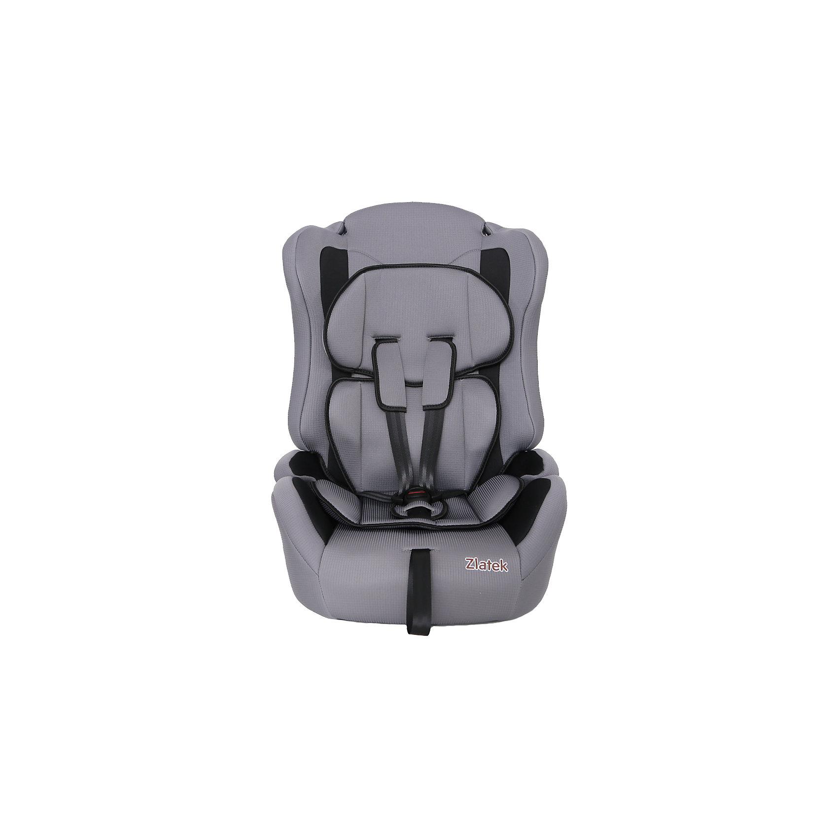Автокресло Zlatek Atlantic Lux, 9-36 кг, серыйГруппа 1-2-3 (От 9 до 36 кг)<br>Детское автомобильное кресло «ZLATEK Atlantic LUX» предназначено для детей от 1 года до 12 лет весом от 9 до 36 кг. Отличительным свойством автокресла является его универсальность: по мере роста ребенка, кресло легко трансформируется в бустер. Кресло имеет мягкий съемный анатомический вкладыш и съемный чехол, изготовленный из гипоаллергенного материала. Для малышей от 1 года до 4 лет автокресло оборудовано внутренними пятиточечными ремнями, которые регулируются по высоте в зависимости от роста ребенка и по глубине, что очень удобно в зимнее время, когда ребенок одет в объемные зимние вещи. <br>Автокресло закрепляется в автомобиле при помощи штатных ремней. <br><br>Преимущества модели в области удобства:<br>мягкий анатомический вкладыш и накладки внутренних ремней обеспечивают максимальный комфорт ребенка;<br>укрепленная анатомическая спинка для удобства ребенка;<br>регулировка внутренних ремней по высоте в зависимости от роста ребенка;<br>двухпозиционная регулировка центральной лямки позволяет адаптировать внутренние ремни под зимнюю и летнюю одежду ребенка (для кресел, изготовленных литьевым способом);<br>износостойкий чехол легко снимается для стирки.<br>особая форма спинки надежно защищает от боковых ударов;<br>надежная система внутренних пятиточечных ремней с использованием специально разработанных ременных лент российского производства;<br>замок ремней с мягим клапаном и защитой от неправильного использования;<br>нетоксичный гипоаллергенный материал безопасен для малыша;<br>фиксатор для корректировки прохождения штатного ремня безопасности по плечу ребенка в возрасте от 6-ти лет.<br>Общие характеристики:<br>Группа применения: 1/2/3.<br>Возраст ребенка: 1-12 лет.<br>Вес ребенка: 9-36 кг.<br>Габариты кресла, ширина/ глубина/ высота, см: 41/47/68.<br>Габариты посадочного места, ширина/ глубина, см: 34/35.<br>Вес кресла, кг: 5 кг.<br><br>Ширина мм: 470<br>Глубина мм: 410<br>Высота мм: 680