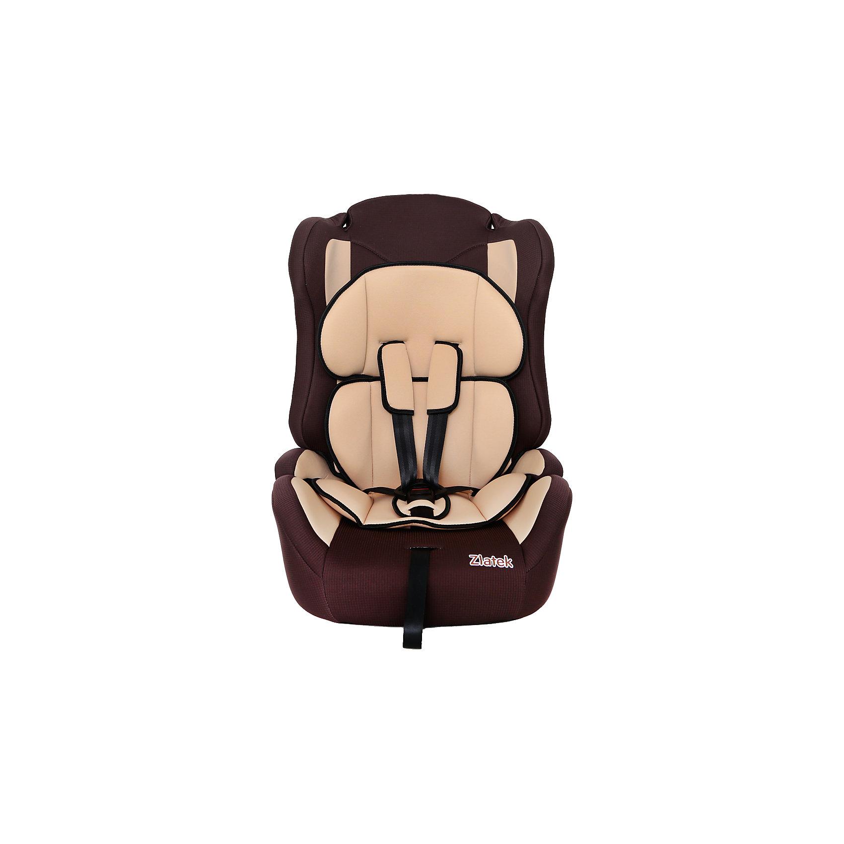 Автокресло Zlatek Atlantic Lux,9-36 кг, коричневыйГруппа 1-2-3 (От 9 до 36 кг)<br>Детское автомобильное кресло «ZLATEK Atlantic LUX» предназначено для детей от 1 года до 12 лет весом от 9 до 36 кг. Отличительным свойством автокресла является его универсальность: по мере роста ребенка, кресло легко трансформируется в бустер. Кресло имеет мягкий съемный анатомический вкладыш и съемный чехол, изготовленный из гипоаллергенного материала. Для малышей от 1 года до 4 лет автокресло оборудовано внутренними пятиточечными ремнями, которые регулируются по высоте в зависимости от роста ребенка и по глубине, что очень удобно в зимнее время, когда ребенок одет в объемные зимние вещи. <br>Автокресло закрепляется в автомобиле при помощи штатных ремней. <br><br>Преимущества модели в области удобства:<br>мягкий анатомический вкладыш и накладки внутренних ремней обеспечивают максимальный комфорт ребенка;<br>укрепленная анатомическая спинка для удобства ребенка;<br>регулировка внутренних ремней по высоте в зависимости от роста ребенка;<br>двухпозиционная регулировка центральной лямки позволяет адаптировать внутренние ремни под зимнюю и летнюю одежду ребенка (для кресел, изготовленных литьевым способом);<br>износостойкий чехол легко снимается для стирки.<br>особая форма спинки надежно защищает от боковых ударов;<br>надежная система внутренних пятиточечных ремней с использованием специально разработанных ременных лент российского производства;<br>замок ремней с мягим клапаном и защитой от неправильного использования;<br>нетоксичный гипоаллергенный материал безопасен для малыша;<br>фиксатор для корректировки прохождения штатного ремня безопасности по плечу ребенка в возрасте от 6-ти лет.<br>Общие характеристики:<br>Группа применения: 1/2/3.<br>Возраст ребенка: 1-12 лет.<br>Вес ребенка: 9-36 кг.<br>Габариты кресла, ширина/ глубина/ высота, см: 41/47/68.<br>Габариты посадочного места, ширина/ глубина, см: 34/35.<br>Вес кресла, кг: 5 кг.<br><br>Ширина мм: 470<br>Глубина мм: 410<br>Высота мм: