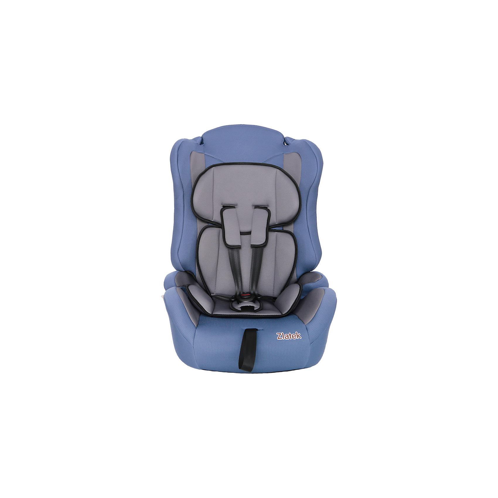 Автокресло Zlatek Atlantic Lu, 9-36 кг, синийГруппа 1-2-3 (От 9 до 36 кг)<br>Детское автомобильное кресло «ZLATEK Atlantic LUX» предназначено для детей от 1 года до 12 лет весом от 9 до 36 кг. Отличительным свойством автокресла является его универсальность: по мере роста ребенка, кресло легко трансформируется в бустер. Кресло имеет мягкий съемный анатомический вкладыш и съемный чехол, изготовленный из гипоаллергенного материала. Для малышей от 1 года до 4 лет автокресло оборудовано внутренними пятиточечными ремнями, которые регулируются по высоте в зависимости от роста ребенка и по глубине, что очень удобно в зимнее время, когда ребенок одет в объемные зимние вещи. <br>Автокресло закрепляется в автомобиле при помощи штатных ремней. <br><br>Преимущества модели в области удобства:<br>мягкий анатомический вкладыш и накладки внутренних ремней обеспечивают максимальный комфорт ребенка;<br>укрепленная анатомическая спинка для удобства ребенка;<br>регулировка внутренних ремней по высоте в зависимости от роста ребенка;<br>двухпозиционная регулировка центральной лямки позволяет адаптировать внутренние ремни под зимнюю и летнюю одежду ребенка (для кресел, изготовленных литьевым способом);<br>износостойкий чехол легко снимается для стирки.<br>особая форма спинки надежно защищает от боковых ударов;<br>надежная система внутренних пятиточечных ремней с использованием специально разработанных ременных лент российского производства;<br>замок ремней с мягим клапаном и защитой от неправильного использования;<br>нетоксичный гипоаллергенный материал безопасен для малыша;<br>фиксатор для корректировки прохождения штатного ремня безопасности по плечу ребенка в возрасте от 6-ти лет.<br>Общие характеристики:<br>Группа применения: 1/2/3.<br>Возраст ребенка: 1-12 лет.<br>Вес ребенка: 9-36 кг.<br>Габариты кресла, ширина/ глубина/ высота, см: 41/47/68.<br>Габариты посадочного места, ширина/ глубина, см: 34/35.<br>Вес кресла, кг: 5 кг.<br><br>Ширина мм: 470<br>Глубина мм: 410<br>Высота мм: 680<
