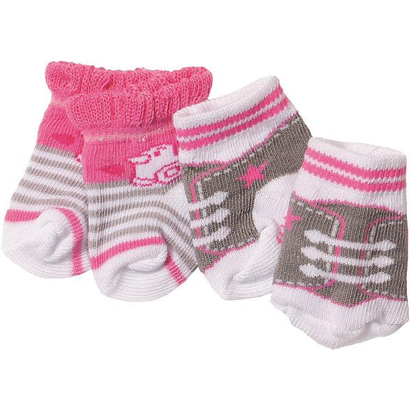 Купить Носочки BABY born, 2 пары, серо-розовые, Zapf Creation, Китай, Женский