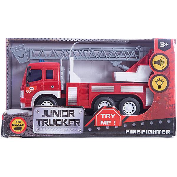 Машина пожарная, 1:16, Dave ToysМашинки<br>Характеристики товара:<br><br>• возраст: от 3 лет;<br>• материал: пластик;<br>• длина игрушки: 28,5 см;<br>• масштаб машины: 1:16;<br>• размер упаковки: 32,6х18,6х11,5 см;<br>• вес упаковки: 1,25 кг;<br>• страна производитель: Китай.<br><br>Машина пожарная Dave Toys представляет собой копию настоящей машины для тушения пожаров. У нее поднимается и опускается лестница. Машина оснащена инерционным механизмом: чтобы привести ее в движение, надо потянуть машину немного назад и отпустить. Световые и звуковые эффекты делают игру еще увлекательней.<br><br>Машину пожарную Dave Toys можно приобрести в нашем интернет-магазине.<br>Ширина мм: 326; Глубина мм: 115; Высота мм: 186; Вес г: 1250; Возраст от месяцев: 36; Возраст до месяцев: 144; Пол: Мужской; Возраст: Детский; SKU: 6835698;