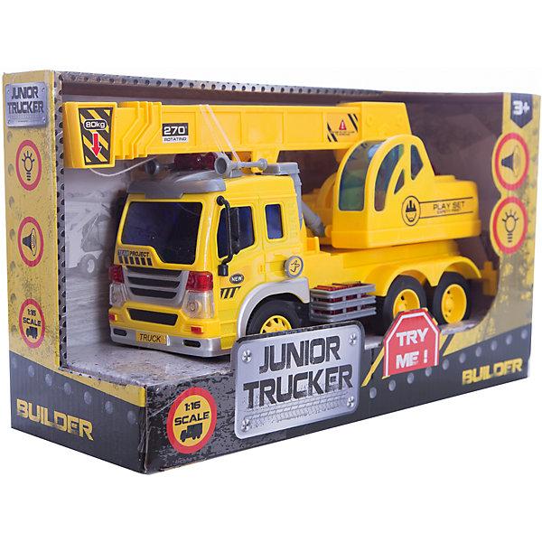 Инерционный кран 1:16, Dave ToysМашинки<br>Характеристики товара:<br><br>• возраст: от 3 лет;<br>• материал: пластик;<br>• длина игрушки: 28,5 см;<br>• масштаб машины: 1:16;<br>• размер упаковки: 32,6х18,6х11,5 см;<br>• вес упаковки: 1,25 кг;<br>• страна производитель: Китай.<br><br>Инерционный кран Dave Toys представляет собой копию настоящего строительного крана. Он оборудован поднимающейся стрелой с выдвигающимся крюком. Машина оснащена инерционным механизмом: чтобы привести ее в движение, надо потянуть машину немного назад и отпустить. Световые и звуковые эффекты делают игру еще увлекательней.<br><br>Инерционный кран Dave Toys можно приобрести в нашем интернет-магазине.<br><br>Ширина мм: 326<br>Глубина мм: 115<br>Высота мм: 186<br>Вес г: 1250<br>Возраст от месяцев: 36<br>Возраст до месяцев: 144<br>Пол: Мужской<br>Возраст: Детский<br>SKU: 6835700