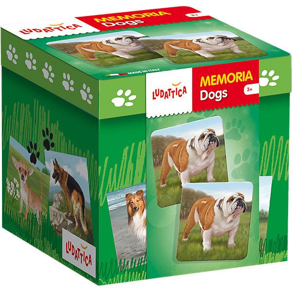 LUDATTICA Игра-мемори  «СОБАКИ»Игры мемо<br>Игра на развитие памяти. Комплект содержит 40 прекрасно иллюстрированных крупных карточек с изображениями различных пород собак. Собирая пары одинаковых картинок, нужно набрать их как можно больше.<br><br>Ширина мм: 131<br>Глубина мм: 131<br>Высота мм: 126<br>Вес г: 609<br>Возраст от месяцев: 36<br>Возраст до месяцев: 72<br>Пол: Унисекс<br>Возраст: Детский<br>SKU: 6836757