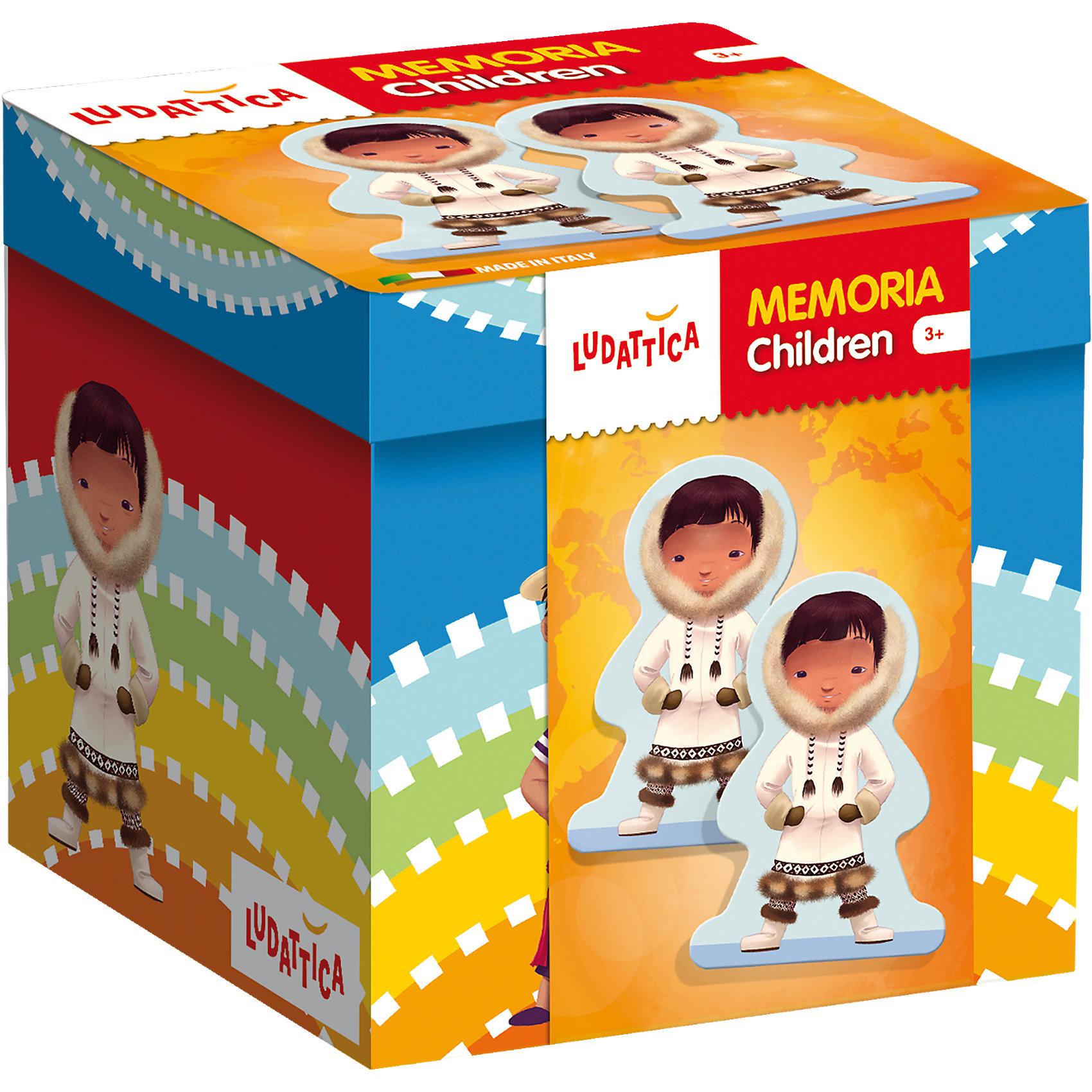 LUDATTICA Игра-мемори  «ДЕТИ ПЛАНЕТЫ»Игры мемо<br>Игра на развитие памяти. Комплект содержит 40 прекрасно иллюстрированных крупных карточек с изображениями детей в различных национальных костюмах. Собирая пары одинаковых картинок, нужно набрать их как можно больше.<br><br>Ширина мм: 129<br>Глубина мм: 131<br>Высота мм: 124<br>Вес г: 475<br>Возраст от месяцев: 36<br>Возраст до месяцев: 72<br>Пол: Унисекс<br>Возраст: Детский<br>SKU: 6836758