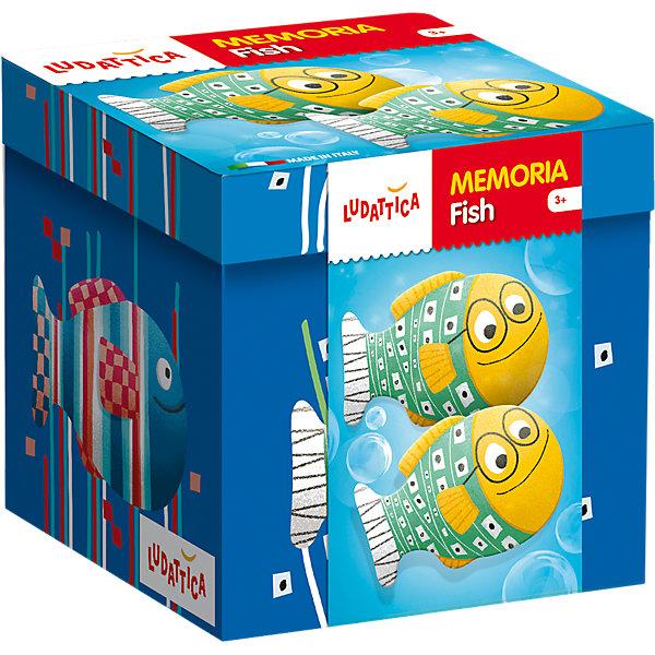 LUDATTICA Игра-мемори «РЫБКИ»Игры мемо<br>Игра на развитие памяти. Комплект содержит 40 прекрасно иллюстрированных крупных карточек с изображениями забавных рыбок. Собирая пары одинаковых картинок, нужно набрать их как можно больше.<br><br>Ширина мм: 128<br>Глубина мм: 129<br>Высота мм: 126<br>Вес г: 494<br>Возраст от месяцев: 36<br>Возраст до месяцев: 72<br>Пол: Унисекс<br>Возраст: Детский<br>SKU: 6836759