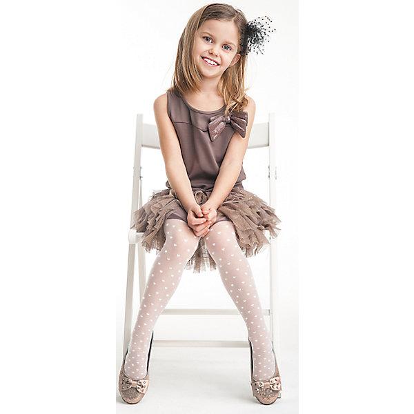 Колготки для девочки KnittexКолготки<br>Колготки для девочки Knittex<br>Однотонные прозрачные колготки плотностью 20 den с рисунком в виде сердечек по всей длине ноги.  Плоские швы. Высокая талия. Широкая комфортная резинка. Укрепленный мысок. <br>Состав:<br>полиамид 88%,                            эластан 11%, хлопок 1%<br>Ширина мм: 123; Глубина мм: 10; Высота мм: 149; Вес г: 209; Цвет: белый; Возраст от месяцев: 120; Возраст до месяцев: 132; Пол: Женский; Возраст: Детский; Размер: 140/146,116/122,146/152,122/128,128/134,134/140; SKU: 6837410;