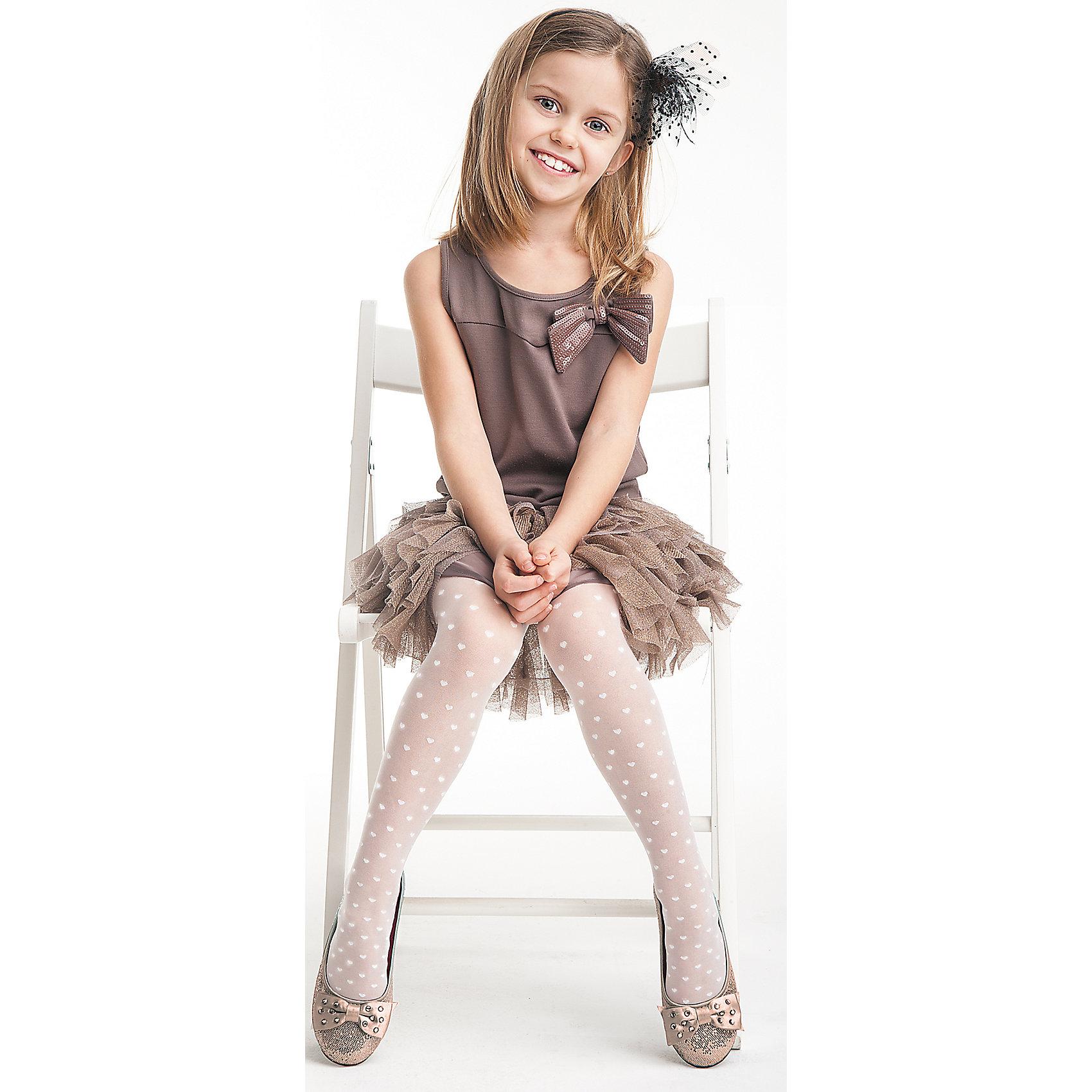 Колготки для девочки KnittexКолготки<br>Колготки для девочки Knittex<br>Однотонные прозрачные колготки плотностью 20 den с рисунком в виде сердечек по всей длине ноги.  Плоские швы. Высокая талия. Широкая комфортная резинка. Укрепленный мысок. <br>Состав:<br>полиамид 88%,                            эластан 11%, хлопок 1%<br><br>Ширина мм: 123<br>Глубина мм: 10<br>Высота мм: 149<br>Вес г: 209<br>Цвет: белый<br>Возраст от месяцев: 72<br>Возраст до месяцев: 84<br>Пол: Женский<br>Возраст: Детский<br>Размер: 116/122,146/152,140/146,134/140,128/134,122/128<br>SKU: 6837410
