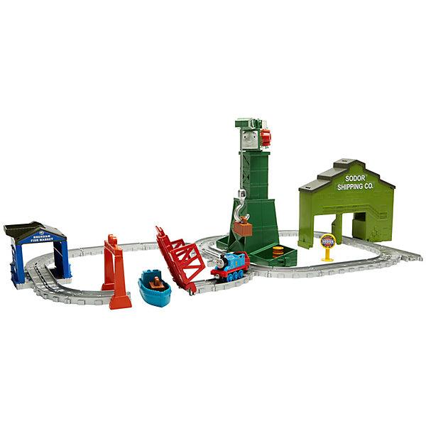 Переносной игровой набор Томас и его друзья Крэнки на причалеАвтотреки<br>Характеристики товара:<br><br>• возраст: от 3 лет<br>• материал: пластик;<br>• в комплекте: кораблик и разводной мост.<br>• размер упаковки: 28X42X6,5 см;<br>• страна бренда: США<br>• страна изготовоитель: Китай<br><br>С игрушками серии «Приключения Томаса и его друзей™» ваш малыш отправится с Томасом туда, куда укажет его воображение! <br><br>Крэнки — один из самых популярных персонажей мультфильма «Томас и его друзья»! Он умеет вращаться на 360 градусов, а также поднимать и опускать грузы своим краном. <br><br>Пусть малыш поможет Крэнки и Томасу выполнить работу в доках Brendam Docks. <br><br>Переносной игровой набор Томас и его друзья Крэнки на причале можно купить в нашем интернет-магазине.<br>Ширина мм: 490; Глубина мм: 332; Высота мм: 76; Вес г: 1144; Возраст от месяцев: 36; Возраст до месяцев: 60; Пол: Унисекс; Возраст: Детский; SKU: 6838624;