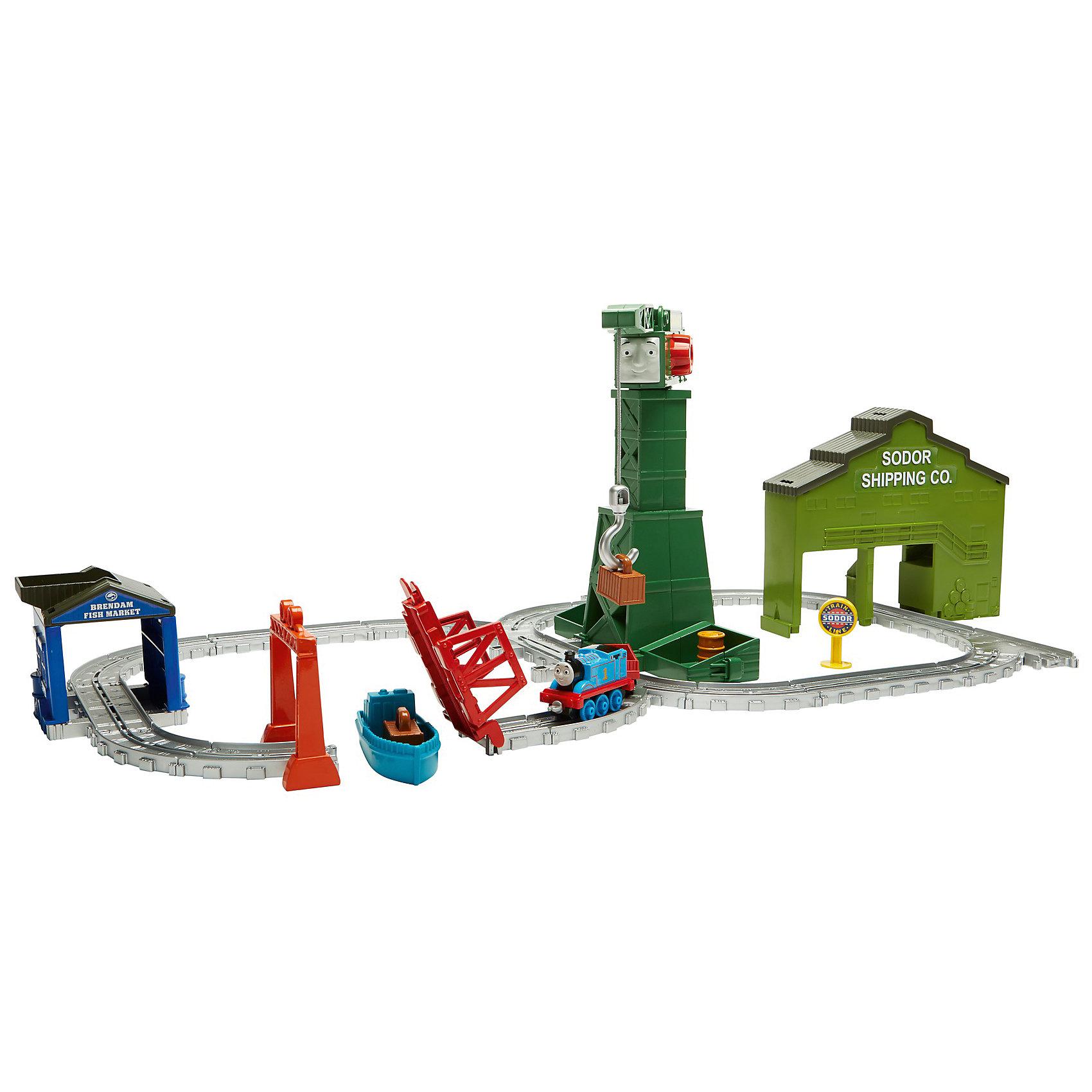 Переносной игровой набор Томас и его друзья Крэнки на причалеИгрушечная железная дорога<br>Характеристики товара:<br><br>• возраст: от 3 лет<br>• материал: пластик;<br>• в комплекте: кораблик и разводной мост.<br>• размер упаковки: 28X42X6,5 см;<br>• страна бренда: США<br>• страна изготовоитель: Китай<br><br>С игрушками серии «Приключения Томаса и его друзей™» ваш малыш отправится с Томасом туда, куда укажет его воображение! <br><br>Крэнки — один из самых популярных персонажей мультфильма «Томас и его друзья»! Он умеет вращаться на 360 градусов, а также поднимать и опускать грузы своим краном. <br><br>Пусть малыш поможет Крэнки и Томасу выполнить работу в доках Brendam Docks. <br><br>Переносной игровой набор Томас и его друзья Крэнки на причале можно купить в нашем интернет-магазине.<br><br>Ширина мм: 490<br>Глубина мм: 332<br>Высота мм: 76<br>Вес г: 1144<br>Возраст от месяцев: 36<br>Возраст до месяцев: 60<br>Пол: Унисекс<br>Возраст: Детский<br>SKU: 6838624