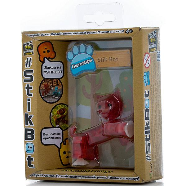 Фигурка питомца Кот, красный, StikbotФигурки из мультфильмов<br>Характеристики товара:<br><br>• возраст: от 4 лет;<br>• материал: пластик;<br>• в комплекте: 1 фигурка;<br>• размер упаковки: 11х12х3,5 см;<br>• вес упаковки: 100 гр.;<br>• страна производитель: Китай.<br><br>Фигурка питомца «Кот» красный Stikbot — необычная фигурка с подвижными деталями, с помощью которой можно снимать забавные и смешные видеоролики. На лапках питомца имеются присоски, которые крепятся к поверхности.<br><br>Для создания видеороликов необходимо скачать бесплатное мобильное приложение. А затем при помощи обычного телефона можно записывать небольшие фрагменты, придавая фигурке различные позы. Все фрагменты после записи монтируются в один видеоролик, на который накладывается музыка, фон, голосовые заметки.<br><br>Игрушка позволит детям устроить свою собственную студию и проявить творческие способности и воображение. <br><br>Фигурку питомца «Кот» красный Stikbot можно приобрести в нашем интернет-магазине.<br>Ширина мм: 35; Глубина мм: 120; Высота мм: 110; Вес г: 66; Возраст от месяцев: 48; Возраст до месяцев: 2147483647; Пол: Унисекс; Возраст: Детский; SKU: 6838663;