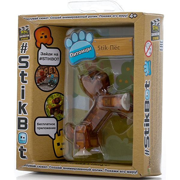 Фигурка питомца Собака, коричневая, StikbotФигурки из мультфильмов<br>Характеристики товара:<br><br>• возраст: от 4 лет;<br>• материал: пластик;<br>• в комплекте: 1 фигурка;<br>• размер упаковки: 11х12х3,5 см;<br>• вес упаковки: 100 гр.;<br>• страна производитель: Китай.<br><br>Фигурка питомца «Собака» коричневая Stikbot — необычная фигурка с подвижными деталями, с помощью которой можно снимать забавные и смешные видеоролики. На лапках питомца имеются присоски, которые крепятся к поверхности.<br><br>Для создания видеороликов необходимо скачать бесплатное мобильное приложение. А затем при помощи обычного телефона можно записывать небольшие фрагменты, придавая фигурке различные позы. Все фрагменты после записи монтируются в один видеоролик, на который накладывается музыка, фон, голосовые заметки.<br><br>Игрушка позволит детям устроить свою собственную студию и проявить творческие способности и воображение. <br><br>Фигурку питомца «Собака» коричневая Stikbot можно приобрести в нашем интернет-магазине.<br><br>Ширина мм: 35<br>Глубина мм: 120<br>Высота мм: 110<br>Вес г: 66<br>Возраст от месяцев: 48<br>Возраст до месяцев: 2147483647<br>Пол: Унисекс<br>Возраст: Детский<br>SKU: 6838669