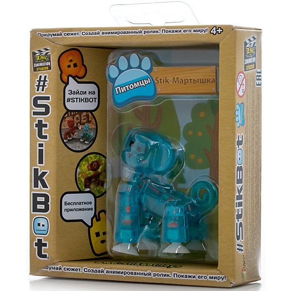 Фигурка питомца Мартышка, синяя, StikbotФигурки из мультфильмов<br>Характеристики товара:<br><br>• возраст: от 4 лет;<br>• материал: пластик;<br>• в комплекте: 1 фигурка;<br>• размер упаковки: 11х12х3,5 см;<br>• вес упаковки: 100 гр.;<br>• страна производитель: Китай.<br><br>Фигурка питомца «Мартышка» синяя Stikbot — необычная фигурка с подвижными деталями, с помощью которой можно снимать забавные и смешные видеоролики. На лапках питомца имеются присоски, которые крепятся к поверхности.<br><br>Для создания видеороликов необходимо скачать бесплатное мобильное приложение. А затем при помощи обычного телефона можно записывать небольшие фрагменты, придавая фигурке различные позы. Все фрагменты после записи монтируются в один видеоролик, на который накладывается музыка, фон, голосовые заметки.<br><br>Игрушка позволит детям устроить свою собственную студию и проявить творческие способности и воображение. <br><br>Фигурку питомца «Мартышка» синяя Stikbot можно приобрести в нашем интернет-магазине.<br>Ширина мм: 35; Глубина мм: 120; Высота мм: 110; Вес г: 66; Возраст от месяцев: 48; Возраст до месяцев: 2147483647; Пол: Унисекс; Возраст: Детский; SKU: 6838676;