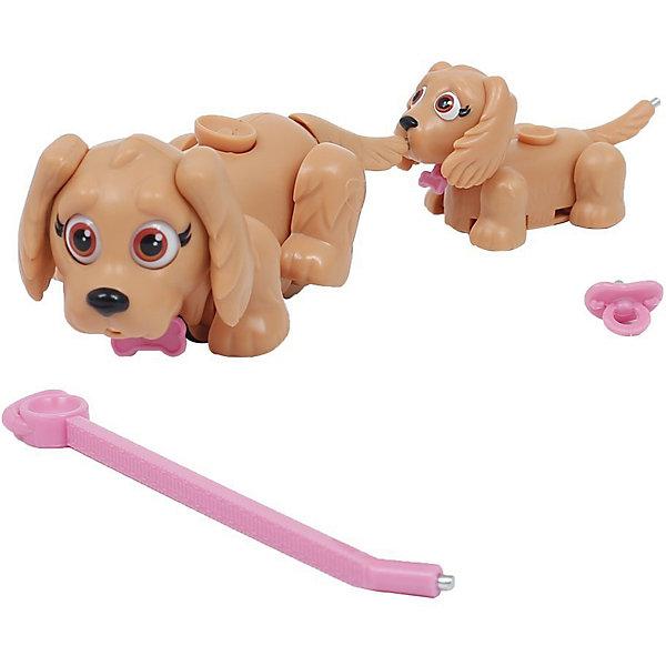 Игровой набор Семья светло-коричневых собак, Pet Club ParadeФигурки из мультфильмов<br>Характеристики товара:<br><br>• возраст: от 3 лет;<br>• материал: пластик;<br>• в комплекте: 2 фигурки, поводок, соска;<br>• размер фигурки: 10 см;<br>• размер упаковки: 25,5х21х6 см;<br>• вес упаковки: 191 гр.;<br>• страна производитель: Китай.<br><br>Игровой набор «Семья светло-коричневых собак» Pet Club Parade включает в себя 2 очаровательные собачки: маму и ее щенка. Благодаря колесикам они забавно перемещаются по поверхности, передвигая лапками. Прикрепив поводок, собачки отправятся на прогулку. <br><br>На спинке расположен джойстик, который управляет головой, хвостиком и глазками. Собака умеет хлопать глазками, вилять хвостиком и качать головой. В носике щенка спрятан магнит, который позволяет питомцу взаимодействовать с предметами. Мама может покормить щеночка при помощи пустышки.<br><br>Игровой набор «Семья светло-коричневых собак» Pet Club Parade можно приобрести в нашем интернет-магазине.<br><br>Ширина мм: 260<br>Глубина мм: 210<br>Высота мм: 60<br>Вес г: 191<br>Возраст от месяцев: 108<br>Возраст до месяцев: 2147483647<br>Пол: Женский<br>Возраст: Детский<br>SKU: 6838691