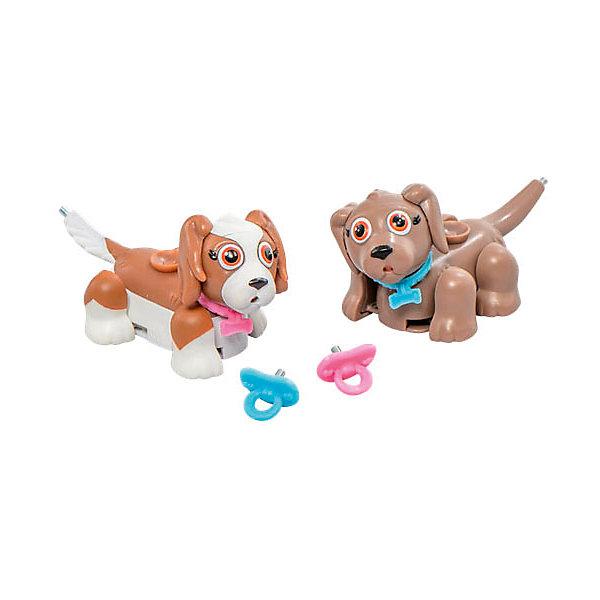 Игровой набор Коричневый и бело-коричневый щенки, Pet Club Parade