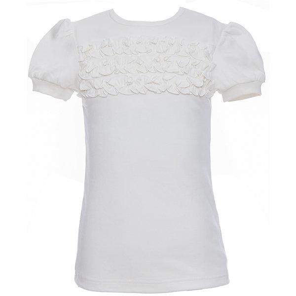 Блузка для девочки Белый снегБлузки и рубашки<br>Характеристики товара:<br><br>• цвет: белый<br>• 100% хлопок<br>• декорирована рюшами<br>• с коротким рукавом<br>• застежка: пуговица<br>• манжеты на резинке<br>• особенности: школьная, однотонная<br>• страна бренда: Российская Федерация<br>• страна производства: Российская Федерация<br><br>Школьная блузка с коротким рукавом для девочки. Белая блузка с рюшами застегивается сзади на одну пуговицу, для удобства надевания через голову. Манжеты рукавов на эластичной резинке.<br><br>Блузку для девочки Белый снег можно купить в нашем интернет-магазине.<br><br>Ширина мм: 230<br>Глубина мм: 40<br>Высота мм: 220<br>Вес г: 250<br>Цвет: белый<br>Возраст от месяцев: 132<br>Возраст до месяцев: 144<br>Пол: Женский<br>Возраст: Детский<br>Размер: 152,122/128,140/146,134<br>SKU: 6839186