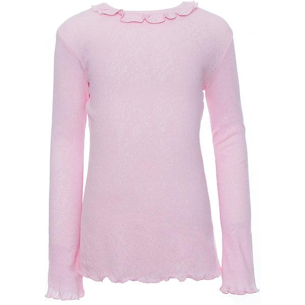 Футболка с длинным рукавом Белый снег для девочкиБлузки и рубашки<br>Характеристики товара:<br><br>• цвет: розовый<br>• материал: 100% хлопок<br>• сезон: демисезон<br>• полуприлегающий силуэт<br>• длинные рукава<br>• застежка: кнопка<br>• декорирована рюшей<br>• мягкая обработка краев<br>• натуральный дышащий материал<br>• страна бренда: Российская Федерация<br>• страна производства: Российская Федерация<br><br>Школьная блузка с длинным рукавом для девочки. Однотонная блузка в воротничком-рюшей.<br><br>Водолазку Белый снег можно купить в нашем интернет-магазине.<br>Ширина мм: 230; Глубина мм: 40; Высота мм: 220; Вес г: 250; Цвет: розовый; Возраст от месяцев: 144; Возраст до месяцев: 156; Пол: Женский; Возраст: Детский; Размер: 158,122/128,134,140/146,152; SKU: 6839286;