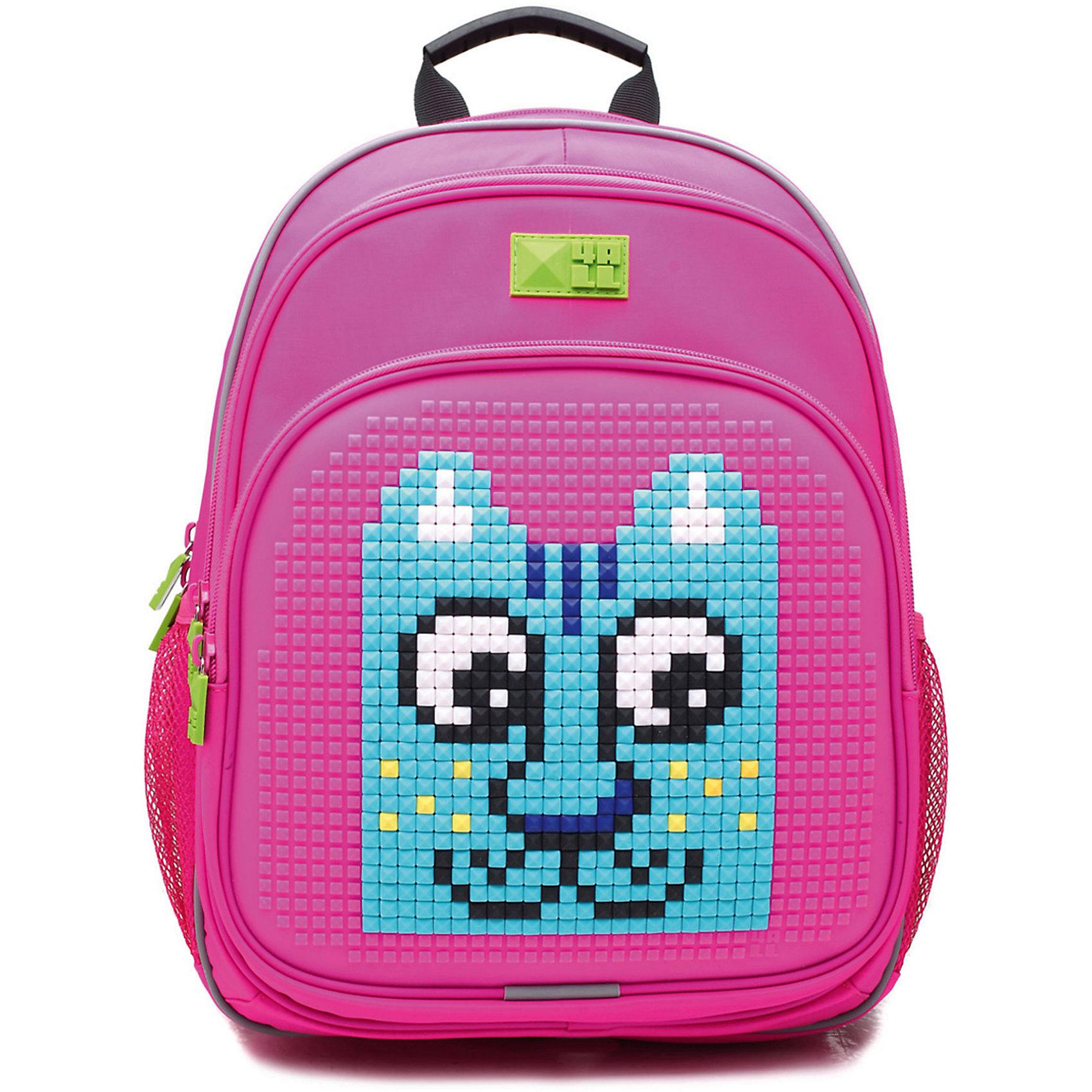 Рюкзак 4ALL, линия Kids, розовыйРюкзаки<br>Ортопедический рюкзак 4ALL для детей от 7 до 12 лет. Размер  39*27*15см. Вес 950 г. Объем 19 литров. Тип застежки - молния. 3 отделения. 2 боковых кармана-сеточка. Содержит светоотражающие элементы.Вмещает А4. Выполнен из высококачественных материалов: PVC, нейлон и гипоаллергенный силикон (на передней поверхности). Ортопедическая спинка и ERGO system (сводобная циркуляция воздуха). Дно мягкое. Регулируемые лямки. Передняя панель предназначена для декорирования. В комплекте каждого рюкзака приложена картинка и набор Битов STANDART (около 300 элементов из силикона различных цветов)<br><br>Ширина мм: 390<br>Глубина мм: 270<br>Высота мм: 150<br>Вес г: 950<br>Возраст от месяцев: 84<br>Возраст до месяцев: 144<br>Пол: Женский<br>Возраст: Детский<br>SKU: 6840942