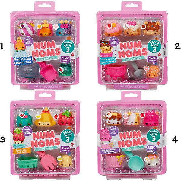 Коллекционные фигурки MGA Num Noms - Hard Candies серия 3, 4 шт. (в ассортименте)Фигурки из мультфильмов<br>В серию 3 входят зефирки маршмеллоу, пончики, фрукты и конфетки<br>•3 «шапочки» Num с индивидуальным ароматом, 1 ароматизированная «сердцевинка» Nom, которая является либо штампом, либо ластиком.<br>•Каждая упаковка стилизована под еду.<br>•В комплекте пластиковый контейнер для «угощения» и аксессуар, а также постер со всеми вариациями «шапочек» и «сердцевинок» Num Noms<br>•Собери всю коллекцию!<br>Ширина мм: 199; Глубина мм: 170; Высота мм: 68; Вес г: 134; Возраст от месяцев: 36; Возраст до месяцев: 72; Пол: Женский; Возраст: Детский; SKU: 6841671;