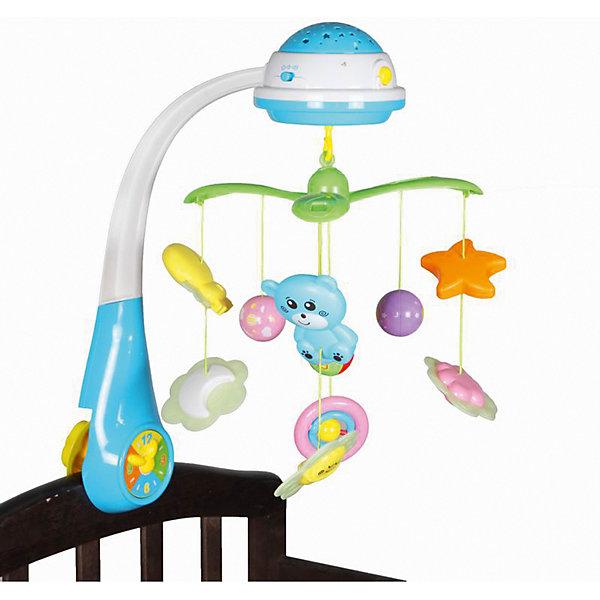 Мобиль-проектор Bairun СветлячкиИгрушки для новорожденных<br>Характеристики:<br><br>• возраст: от 0 месяцев<br>• количество игрушек: 9<br>• материал: пластик<br>• требуются батарейки<br>• размер упаковки: 57х38х17 см.<br><br>Мобиль-проектор «Светлячок», Bairun (Байран) позволит вашему малышу не только интересно проводить время в своей кроватке, но и легко засыпать, погружаясь в сказочную страну сновидений под приятную мелодию.<br><br>Мобиль выполнен в виде вращающейся карусели. На нем имеются несколько ярких подвесных игрушек. При включении устройства подвесные игрушки начинают вращаться вокруг соей оси и светиться. Также срабатывает встроенный звуковой модуль, который воспроизводит приятные мелодичные звуки. <br><br>Стрелки на часиках, расположенных в месте крепления музыкальной карусели к кроватке, тоже крутятся. Имеется светильник-проектор, который можно использовать в качестве ночника. Мобиль изготовлен из высококачественного пластика, легко устанавливается и надежно крепится на спинке кроватки.<br><br>Мобиль-проектор Светлячок, Bairun (Байран) можно купить в нашем интернет-магазине.<br><br>Ширина мм: 570<br>Глубина мм: 380<br>Высота мм: 170<br>Вес г: 2237<br>Возраст от месяцев: -2147483648<br>Возраст до месяцев: 2147483647<br>Пол: Унисекс<br>Возраст: Детский<br>SKU: 6841726