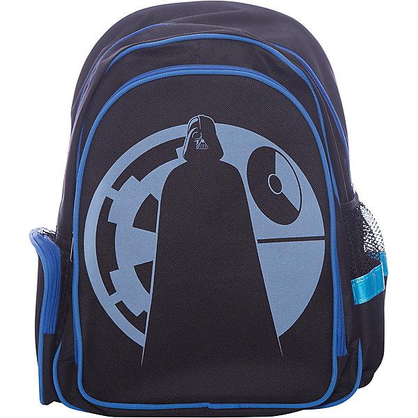 Рюкзак школьный Звездные войныШкольные рюкзаки<br>Характеристики:<br><br>• вес: 900 г.;<br>• размер: 43х31х16см.;<br>• Материал: полиэстер, нейлон;<br>• цвет: чёрный;<br>• для детей от: 6 лет:<br>• страна производитель: Китай.<br><br>Этот вместительный рюкзак, выполненный в стиле звёздные войны от бренда CENTRIUM (Центриум), придёт по вкусу фанатам знаменитой саги. Рюкзак оснащён большим отделением, в которое легко можно положить книги форматом А4, что является очень важной функцией для школьного рюкзака. Также на нем располагаются два дополнительных боковых кармана. Ребёнок сможет взять с собой в школу, например, бутылку воды или любой другой жидкости, а также положить в эти карманы небольшие предметы. <br><br>Данный рюкзак будет обеспечивать безопасность ребёнка в тёмное время суток, так как он оснащён светоотражателями. <br><br>Главной особенностью такого портфеля является жёсткая спинка, которая правильно и равномерно распределяет нагрузку на спину ребёнка. Дополнительный комфорт использования этого рюкзака заключается в его широких лямках, которые можно регулировать. Петля, находящаяся в верней части рюкзака, поможет ребёнку повесить его на специальный крючок, что сохранит его более чистым долгое время. Такой портфель выполнен из прочных материалов. <br><br>Рюкзак Звёздные войны можно купить в нашем интернет-магазине.<br>Ширина мм: 160; Глубина мм: 310; Высота мм: 430; Вес г: 620; Возраст от месяцев: 72; Возраст до месяцев: 2147483647; Пол: Мужской; Возраст: Детский; SKU: 6842114;