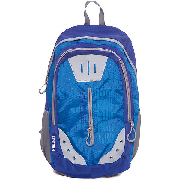 Рюкзак школьный спортивный молодежныйРюкзаки для подростков<br>Характеристики:<br><br>• размер: 49х19х32 см.;<br>• состав: полиэстер;<br>• вес: 660 г.;<br>• для детей в возрасте: от 10 лет;<br>• страна производитель: Китай.<br><br>Этот вместительный рюкзак, выполненный в стильном дизайне от бренда CENTRIUM (Центриум) отлично подойдёт для школы и внеклассных занятий. Рюкзак оснащён двумя обширными отделениями на молнии, в которые помещаются книги и тетради формата А4. Спереди расположен карман для блокнотов и канцелярских принадлежностей. По бокам расположены карманы на резинках для мелочей или бутылочки с водой.<br><br>Уплотнённая спинка из однородного материала приятна в использовании. Широкие и регулируемые лямки способствуют правильному распределению нагрузки на спину. С помощью качественно прошитой ручки рюкзак можно носить в руке или вешать на крючок. Благодаря своему каркасу, рюкзак сохраняет свою форму и в нём легче найти нужный предмет или книгу.<br><br>Рюкзак спортивный молодёжный можно купить в нашем интернет-магазине.<br>Ширина мм: 190; Глубина мм: 320; Высота мм: 490; Вес г: 660; Возраст от месяцев: 72; Возраст до месяцев: 2147483647; Пол: Унисекс; Возраст: Детский; SKU: 6842153;
