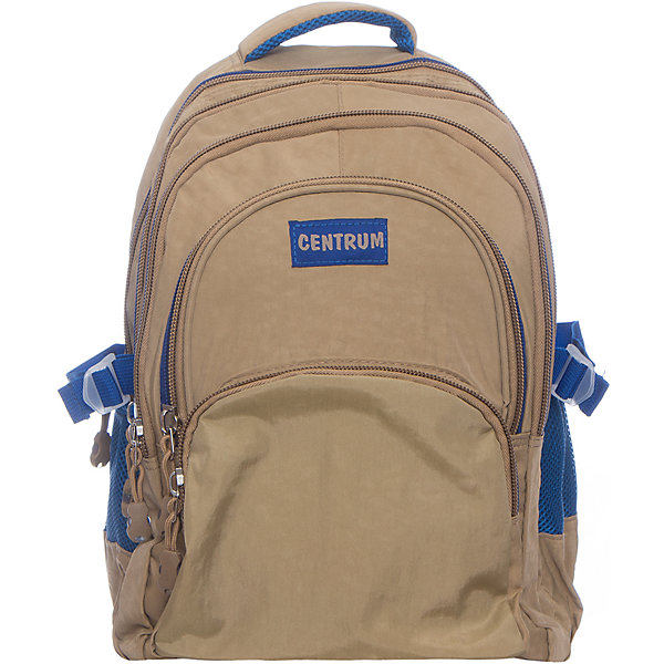 Рюкзак школьный подростковыйРюкзаки<br>Характеристики:<br><br>• размер: 44х28х33 см.;<br>• состав: хлопок;<br>• вес: 600 г.;<br>• для детей в возрасте: от 10 лет;<br>• страна производитель: Китай.<br><br>Этот вместительный рюкзак, выполненный в стильном дизайне от бренда CENTRIUM (Центриум) отлично подойдёт для школы и внеклассных занятий. Рюкзак оснащён сразу тремя обширными отделениями на молнии, в которые помещаются книги и тетради формата А4. Спереди расположены два кармана для тетрадей А5,  блокнотов и прочих канцелярских принадлежностей. Рюкзак можно регулировать, делая его уже или шире. По бокам расположены карманы на резинках для мелочей или бутылочки с водой. Еще никогда организация вещей не была настолько удобной!<br><br>Уплотнённая спинка со вставками из сетчатого материала приятна в использовании и позволяет спине дышать. Широкие и регулируемые лямки способствуют правильному распределению нагрузки на спину. С помощью качественно прошитой ручки рюкзак можно носить в руке или вешать на крючок. Благодаря своему каркасу, рюкзак сохраняет свою форму и в нём легче найти нужный предмет или книгу.<br><br>Рюкзак подростковый можно купить в нашем интернет-магазине.<br>Ширина мм: 280; Глубина мм: 330; Высота мм: 440; Вес г: 600; Возраст от месяцев: 72; Возраст до месяцев: 2147483647; Пол: Унисекс; Возраст: Детский; SKU: 6842154;