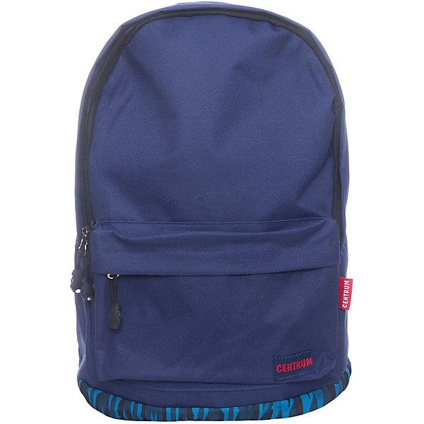 Рюкзак школьный спортивный молодежныйРюкзаки<br>Характеристики:<br><br>• размер: 42х14х29 см.;<br>• состав: хлопок;<br>• вес: 400 г.;<br>• для детей в возрасте: от 10 лет;<br>• страна производитель: Китай.<br><br>Этот вместительный рюкзак, выполненный в стильном дизайне от бренда CENTRIUM (Центриум) отлично подойдёт для школы и внеклассных занятий. Рюкзак оснащён обширным отделением на молнии, в которое помещаются книги и тетради формата А4. Спереди расположен карман для блокнотов и канцелярских принадлежностей.<br><br>Уплотнённая спинка из однородного материала приятна в использовании. Широкие и регулируемые лямки способствуют правильному распределению нагрузки на спину. С помощью качественно прошитой ручки рюкзак можно носить в руке или вешать на крючок. <br><br>Благодаря своему каркасу, рюкзак сохраняет свою форму и в нём легче найти нужный предмет или книгу.<br><br>Рюкзак спортивный молодёжный можно купить в нашем интернет-магазине.<br><br>Ширина мм: 140<br>Глубина мм: 290<br>Высота мм: 410<br>Вес г: 408<br>Возраст от месяцев: 72<br>Возраст до месяцев: 2147483647<br>Пол: Унисекс<br>Возраст: Детский<br>SKU: 6842160