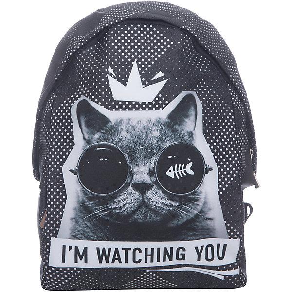 Рюкзак школьный мягкий Кот в очках
