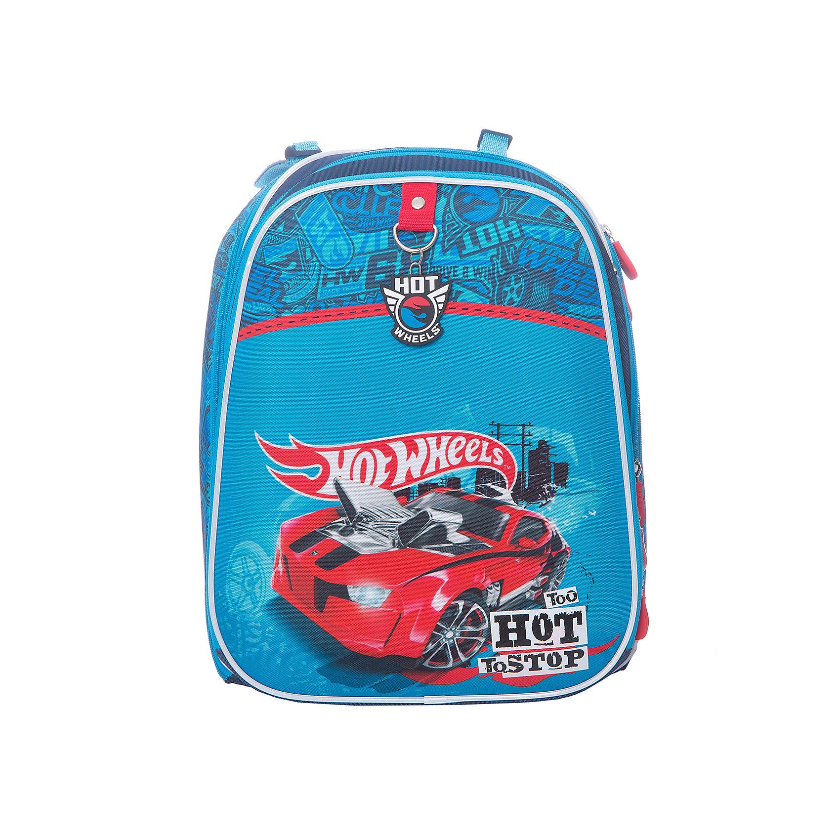 Рюкзак с эргономичной спинкой Hot Wheels Super CarHot Wheels<br>Характеристики товара:<br><br>• серия: Com Style <br>• принт: Hot Wheels Super Car<br>• для начальной школы<br>• цвет: синий<br>• материал: полиэстер, пластик<br>• спинка: эргономичная<br>• размер изделия: 17х29х38 см<br>• вес в кг: 850гр<br>• страна бренда: Германия<br>• страна изготовитель: Китай<br><br> Рюкзак с эргономичной спинкой Hot Wheels Super Car с практичной, водонепроницаемой, морозоустойчивой и износостойкой тканью. Светоотражающие элементы.<br><br>Размер рюкзака позволяет поместить учебные материалы формата А4+. Рюкзак имеет два внутренних отделения и фронтальный карман на молнии, а также карман для мобильного телефона. <br><br>Рюкзак с эргономичной спинкой Hot Wheels Super Car можно купить в нашем интернет-магазине.<br><br>Ширина мм: 360<br>Глубина мм: 270<br>Высота мм: 200<br>Вес г: 1265<br>Возраст от месяцев: 72<br>Возраст до месяцев: 96<br>Пол: Мужской<br>Возраст: Детский<br>SKU: 6842677