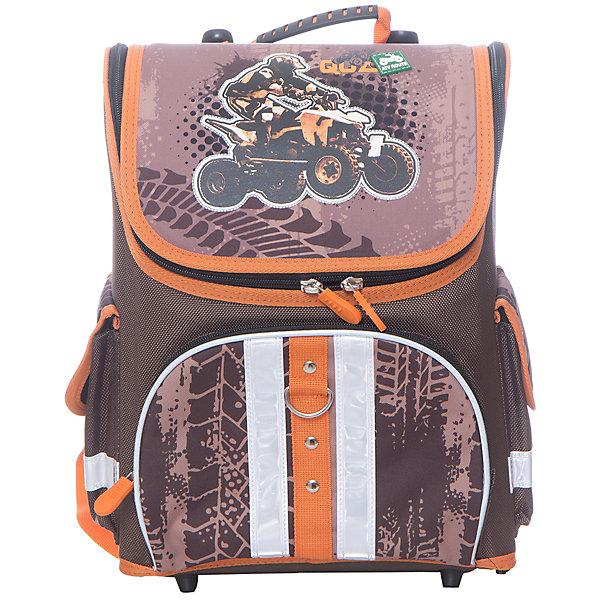 Ранец Erich Krauseраскладной Quadro-ExtremeРанцы<br>Характеристики товара:<br><br>серия: Light<br>коллекция: Quadro-Extreme<br>для начальной школы<br>для мальчиков<br>цвет: коричневый<br>материал: полиэстер, пластик<br>спинка:   ортопедическая<br>размер изделия: 36х27х20 см<br>вес в кг: 850гр<br>страна бренда: Германия<br>страна изготовитель: Китай<br><br>Школьный ранец Erich Krause Light для учеников 1-4 классов.<br><br>Уникальность данной модели - наличие молнии, которая позволит полностью открыть крышку ранца. Такая конструкция позволяет сразу найти необходимую вещь. Внутри ранец вместительный, туда без труда поместятся все тетради и учебные пособия, необходимые на уроках.<br><br>Регулируемые S-образные лямки повторяют форму плеч и способствуют лучшему прилеганию к спине. Жесткий каркас не деформируется и защищен от повреждений. Устойчивое дно оснащено пластиковыми ножками, препятствующими падению и загрязнению.<br><br>Erich Krause Ранец раскладной Quadro-Extreme можно купить в нашем интернет-магазине.<br>Ширина мм: 360; Глубина мм: 270; Высота мм: 200; Вес г: 1103; Возраст от месяцев: 72; Возраст до месяцев: 96; Пол: Мужской; Возраст: Детский; SKU: 6842684;