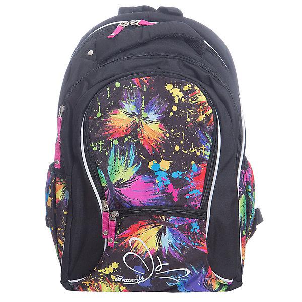 Рюкзак школьный Erich KrauseNeonРюкзаки<br>Характеристики товара:<br><br>• коллекция:  Neon<br>• для средней и старшей школы<br>• цвет: черный, мульти<br>• материал: полиэстер, пластик<br>• спинка: эргономичная<br>• размер изделия: 43х30х15 см<br>• вес в кг: 550гр<br>• страна бренда: Германия<br>• страна изготовитель: Китай<br><br>Школьный рюкзак Erich Krause - практичный и вместительный рюкзак с эргономичной спинкой. <br><br>Рюкзак разделен на 2 отделения. Спереди один большой карман на молнии для пенала или блокнотов, а также небольшой кармашек для мелочей. По бокам сетчатые карманы на резинке. <br><br>Рюкзак выполнен из прочного износостойкого полиэстера с водотталкивающей пропиткой. Дно оснащено пластиковыми ножками для устойчивости на поверхности и защиты от загрязнения. Светоотражающие элементы гарантируют видимость при перемещении на темной дороге.<br><br>Erich Krause Рюкзак школьный Neon можно купить в нашем интернет-магазине.<br><br>Ширина мм: 400<br>Глубина мм: 390<br>Высота мм: 180<br>Вес г: 660<br>Возраст от месяцев: 72<br>Возраст до месяцев: 168<br>Пол: Женский<br>Возраст: Детский<br>SKU: 6842694