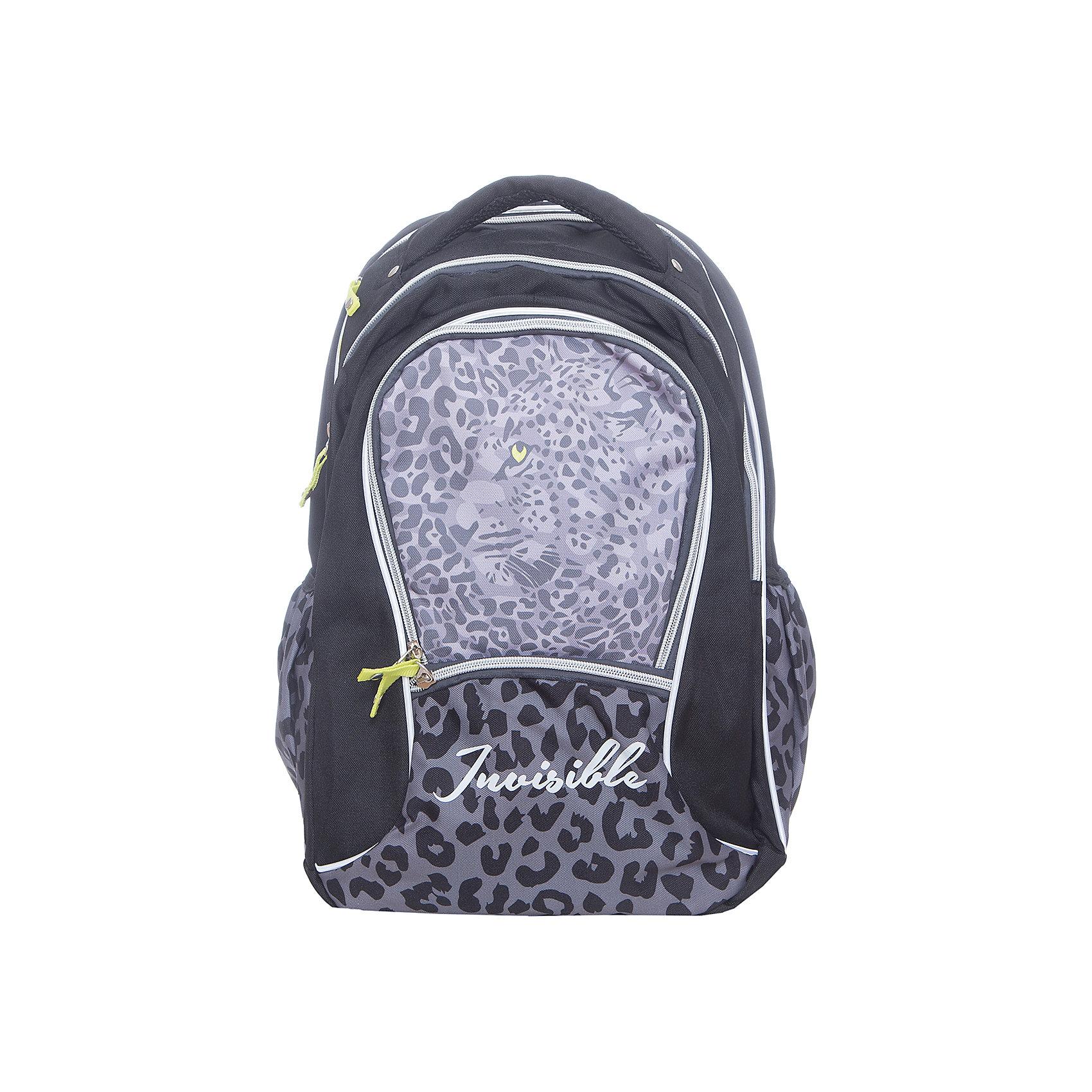 Рюкзак школьный Erich KrauseLeopardРюкзаки<br>Характеристики товара:<br><br>• цвет: черный<br>• коллекция: Leopard<br>• для средней и старшей школы<br>• цвет: черный, мульти<br>• материал: полиэстер, пластик<br>• спинка: эргономичная<br>• размер изделия: 43х30х15 см<br>• вес в кг: 550гр<br>• страна бренда: Германия<br>• страна изготовитель: Китай<br><br>Школьный рюкзак Erich Krause - практичный и вместительный рюкзак с эргономичной спинкой. <br><br>Рюкзак разделен на 2 отделения. Спереди один большой карман на молнии для пенала или блокнотов, а также небольшой кармашек для мелочей. По бокам сетчатые карманы на резинке. <br><br>Рюкзак выполнен из прочного износостойкого полиэстера с водотталкивающей пропиткой. Дно оснащено пластиковыми ножками для устойчивости на поверхности и защиты от загрязнения. Светоотражающие элементы гарантируют видимость при перемещении на темной дороге.<br><br>Erich Krause Рюкзак школьный Leopard можно купить в нашем интернет-магазине.<br><br>Ширина мм: 400<br>Глубина мм: 390<br>Высота мм: 180<br>Вес г: 660<br>Возраст от месяцев: 72<br>Возраст до месяцев: 168<br>Пол: Женский<br>Возраст: Детский<br>SKU: 6842697