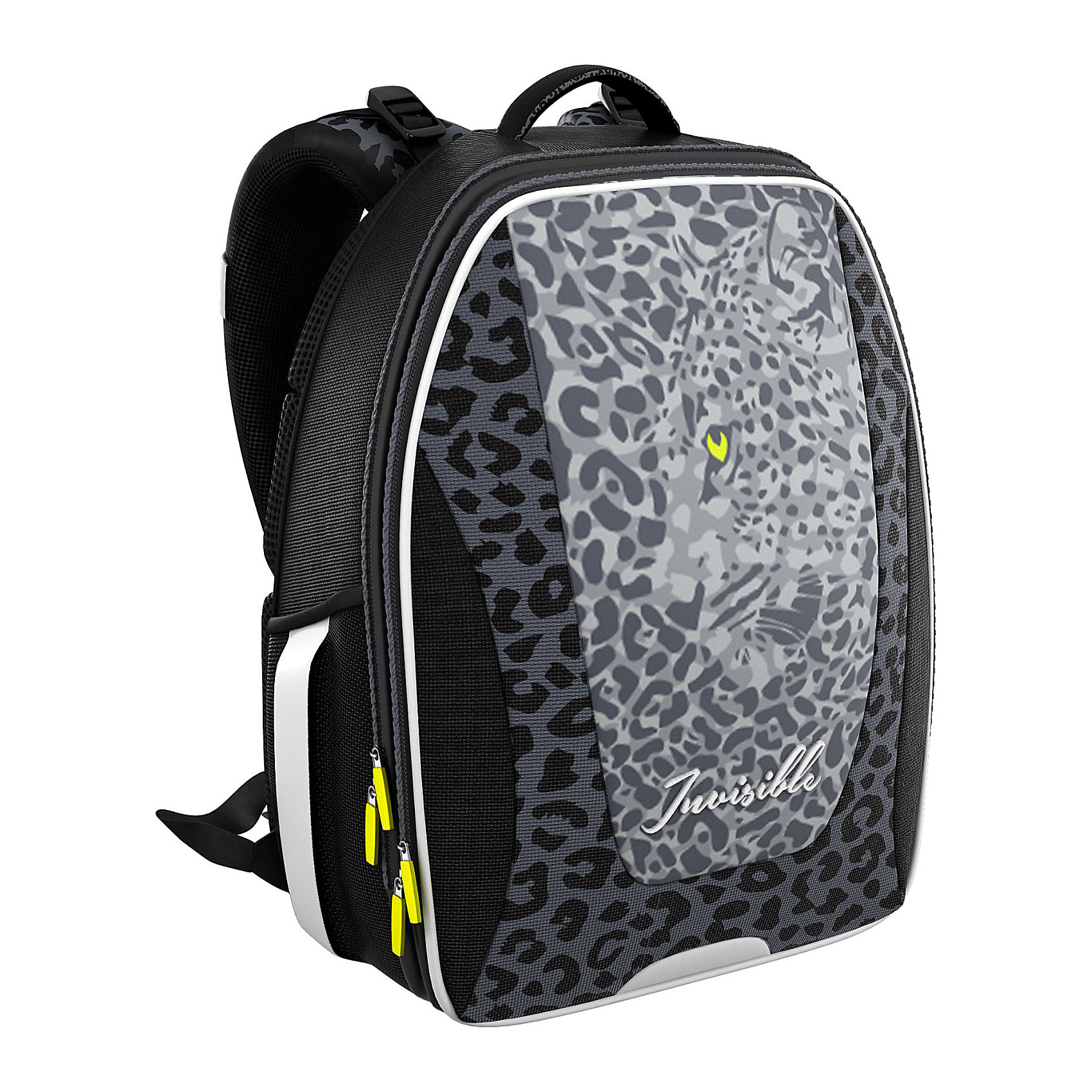 Рюкзак школьный Erich Krauseс эргономичной спинкой LeopardРюкзаки<br>Характеристики товара:<br><br>• серия: Multi Pack<br>• коллекция:  Leopard <br>• для средней и старшей школы<br>• цвет: черный, серый<br>• материал: полиэстер, пластик<br>• спинка: эргономичная<br>• размер изделия: 40x32x18 см<br>• вес в кг: 820гр<br>• страна бренда: Германия<br>• страна изготовитель: Китай<br><br>Рюкзак ErichKrause Multi Pack - вместительный и удобный школьный рюкзак с твердой спинкой. <br><br>Во внутреннем отделении помещаются папки формата А4. Внутри имеется органайзер для канцелярских принадлежностей и небольшой кармашек для телефона. Спереди один большой карман на молнии, по бокам 2 сетчатых кармашка.<br><br>Эргономичная спинка поддерживает спину прямо и препятствует развитию сколиоза. Конструкция повторяет изгиб позвоночника, делая максимально комфортным ношение рюкзака. <br><br>Светоотражающие вставки гарантируют видимость на темной дороге.<br><br>Erich Krause Рюкзак школьный  с эргономичной спинкой Leopard можно купить в нашем интернет-магазине.<br><br>Ширина мм: 370<br>Глубина мм: 290<br>Высота мм: 190<br>Вес г: 1415<br>Возраст от месяцев: 72<br>Возраст до месяцев: 96<br>Пол: Женский<br>Возраст: Детский<br>SKU: 6842698
