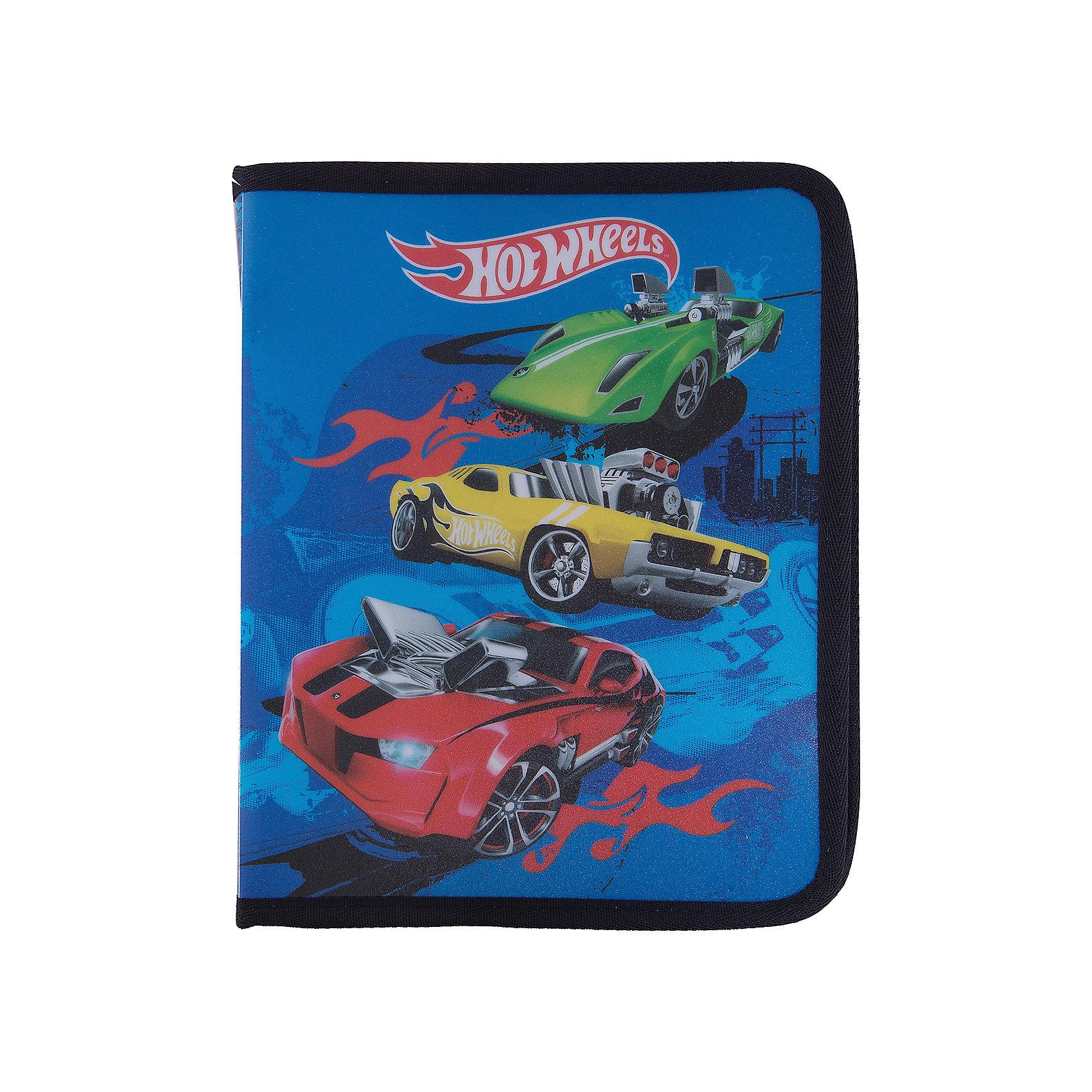 Папка для тетрадей на молнии B5 Hot Wheels Super CarПапки для тетрадей<br>Характеристики товара:<br><br>• герой: Hot Wheels Super Car;<br>• материал: полиэстер;<br>• размер упаковки: 20.3x25x3.5 см;<br>• формат: В5;<br>• страна изготовитель: Россия<br><br>Папка для тетрадей — незаменимая вещь для каждого школьника. С ней все тетради будут на месте и не потеряются. <br><br>Плотный материал, из которого она изготовлена, не даст бумажной канцелярии помяться. <br><br>Папку для тетрадей  B5 Hot Wheels Super Car можно купить в нашем интернет-магазине.<br><br>Ширина мм: 250<br>Глубина мм: 176<br>Высота мм: 20<br>Вес г: 92<br>Возраст от месяцев: 72<br>Возраст до месяцев: 96<br>Пол: Мужской<br>Возраст: Детский<br>SKU: 6842702