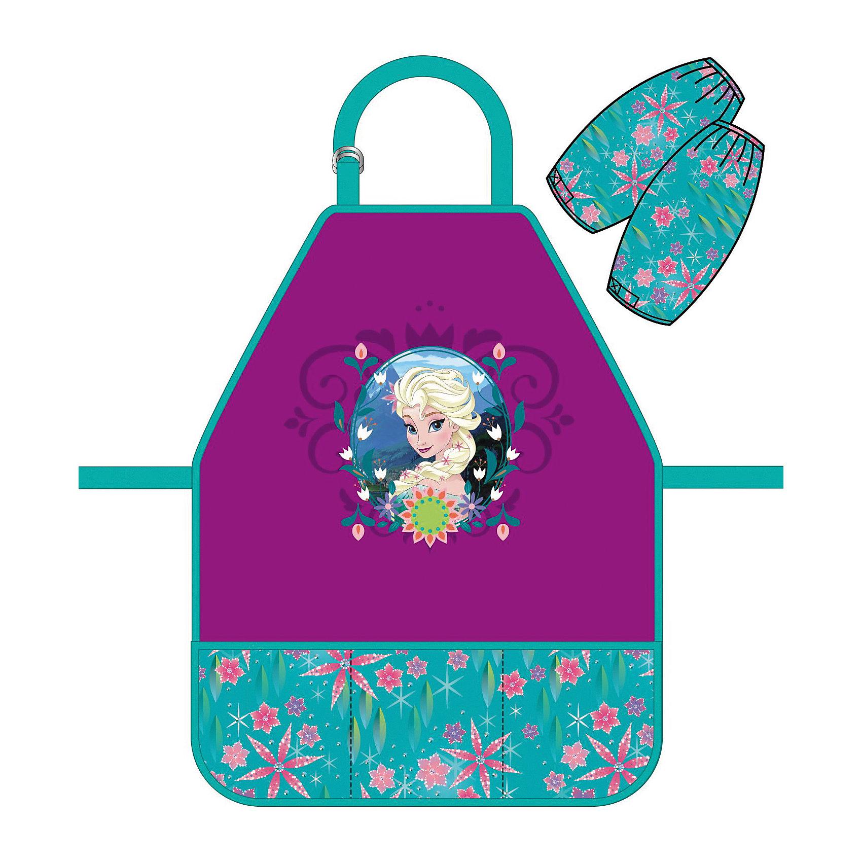 Фартук Elsa с нарукавникамиХолодное Сердце<br>Характеристики товара:<br><br>• принт: Эльза<br>• материал: полиэстер<br>• страна изготовитель: Китай<br>• страна бренда: Германия<br><br>Фартук Эльза с нарукавниками бренда Erich Krause защитит одежду от краски, пластилина и прочих материалов для творчества.<br><br>Фартук Elsa можно купить в нашем интернет-магазине.<br><br>Ширина мм: 9999<br>Глубина мм: 9999<br>Высота мм: 9999<br>Вес г: 79<br>Возраст от месяцев: 72<br>Возраст до месяцев: 96<br>Пол: Женский<br>Возраст: Детский<br>SKU: 6842706