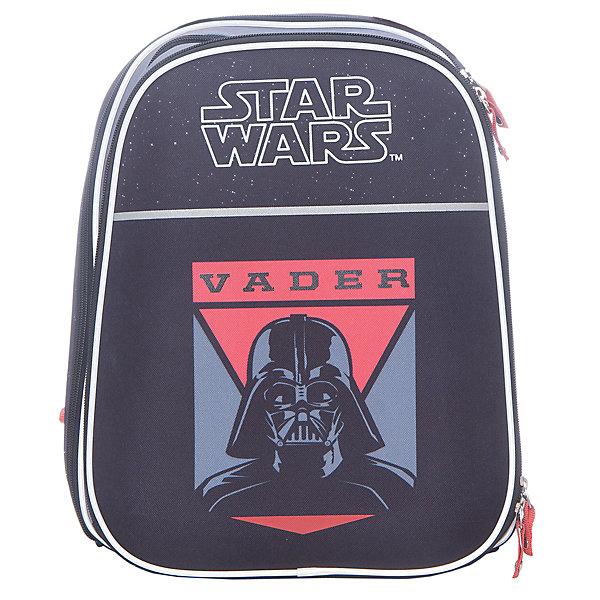 Рюкзак с эргономичной спинкой Star Wars ( модель Com.style )Звездные войны Рюкзаки, ранцы и сумки<br>Характеристики товара:<br><br>• модель: Com Style;<br>• принт: Star Wars;<br>• эргономичная спинка;<br>• светоотражающие элементы;<br>• широкие лямки;<br>• размер: 38х29х17 см;<br>• вес: 850 гр;<br>• объем: 18 л;<br>• страна изготовитель: Китай<br>• страна бренда: Германия<br><br>Размер рюкзака позволяет поместить учебные материалы формата А4+. Рюкзак имеет два внутренних отделения и фронтальный карман на молнии. <br><br>Во фронтальном кармане есть накладные отделения для разных мелочей. Карман для мобильного телефона. Карман в основном отделении для ценных вещей. <br><br>Рюкзак с эргономичной спинкой Star Wars можно купить в нашем интернет-магазине.<br><br>Ширина мм: 370<br>Глубина мм: 290<br>Высота мм: 190<br>Вес г: 1265<br>Возраст от месяцев: 72<br>Возраст до месяцев: 96<br>Пол: Мужской<br>Возраст: Детский<br>SKU: 6842713