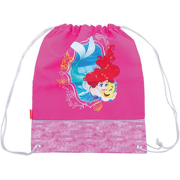 Сумка для сменной обуви Принцессы Disney Королевский балМешки для обуви<br>Характеристики товара:<br><br>• серия: Принцессы Disney Королевский бал<br>• материал: полиэстер<br>• размер: 44х35х2 см<br>• страна изготовитель: Китай<br>• страна бренда: Германия<br><br>Мешок для обуви ErichKrause позволяет школьнику носить с собой сменную обувь – в школу или на секции. Мешок для обуви оснащен шнурком для стягивания. <br><br>Erich Krause Сумка для сменной обуви Принцессы Disney Королевский бал можно купить в нашем интернет-магазине.<br>Ширина мм: 440; Глубина мм: 350; Высота мм: 10; Вес г: 90; Возраст от месяцев: 72; Возраст до месяцев: 96; Пол: Женский; Возраст: Детский; SKU: 6842732;