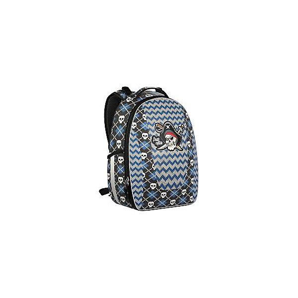 Рюкзак школьный Erich Krause с эргономичной спинкой PiratesРюкзаки<br>Характеристики товара:<br><br>• серия: Multi Pack mini<br>• коллекция: Pirates<br>• для средней школы<br>• цвет: синий, серый<br>• материал: полиэстер, пластик<br>• светоотражатели<br>• спинка с уплотнителем и MESH-сеткой<br>• размер изделия: 27х17х36 см<br>• вес в кг: 650гр<br>• страна бренда: Германия<br>• страна изготовитель: Китай<br><br>Рюкзак ErichKrause Multi Pack mini имеет каркасную конструкцию, которая защищает содержимое рюкзака от повреждений. <br><br>Рюкзак разделен на 2 отделения, в которые помещаются альбомы и папки формата А4. Внутри имеются разделители для тетрадей, органайзер для канцелярских принадлежностей и небольшой кармашек. Спереди один большой карман на молнии, по бокам 2 кармашка для мелочей.<br><br>Твердая ортопедическая спинка повторяет изгиб позвоночника, делая максимально комфортным ношение рюкзака. Мягкие подушечки обеспечивают плотное прилегание, а воздухопроницаемый материал обеспечивает циркуляцию воздуха.<br><br>Erich Krause Рюкзак школьный с эргономичной спинкой Pirates можно купить в нашем интернет-магазине.<br>Ширина мм: 360; Глубина мм: 270; Высота мм: 200; Вес г: 1117; Возраст от месяцев: 72; Возраст до месяцев: 96; Пол: Мужской; Возраст: Детский; SKU: 6842764;