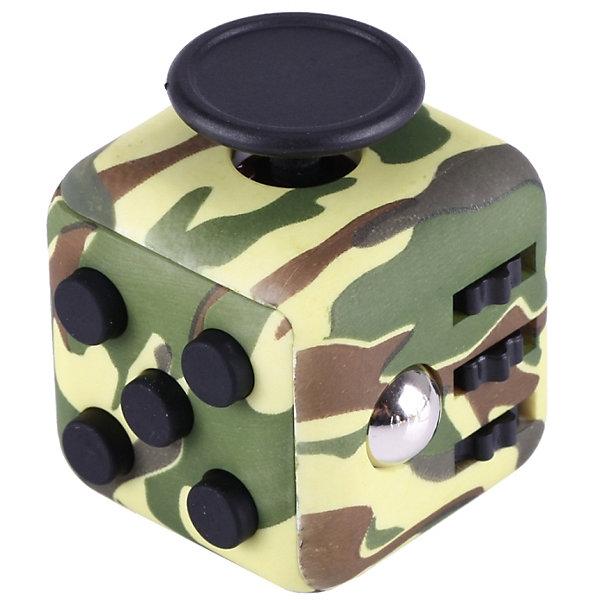 Антистресс Фиджет куб, зеленый-хаки, Fidget cubeИгрушки-антистресс<br>Характеристики товара:<br><br>• возраст: от 3 лет;<br>• материал: пластик;<br>• размер упаковки: 4х4х4 см;<br>• вес упаковки: 50 гр.;<br>• страна производитель: Китай.<br><br>Антистресс Fidget Cube хаки — игрушка, которая помогает привести мысли в порядок, сосредоточиться. Подходит тем, кто любит перебирать в руках мелкие вещи, щелкать пальцами. На гранях кубика располагаются кнопки: кликер, грибок, переключатель, отдушина, крутилки, вращалки. <br><br>Кликер — это целых 5 кнопок, 3 из которых щелкают. Щелкает также переключатель, если нажимать на него быстро. Отдушина — выемка с приятной фактурой. Крутилка включает 3 колесика, которые можно как крутить, так и нажимать на них. Вращалка с крутящимся диском позволяет сосредоточиться.<br><br>Антистресс Fidget Cube хаки можно приобрести в нашем интернет-магазине.<br>Ширина мм: 40; Глубина мм: 40; Высота мм: 40; Вес г: 50; Возраст от месяцев: 36; Возраст до месяцев: 2147483647; Пол: Унисекс; Возраст: Детский; SKU: 6844304;