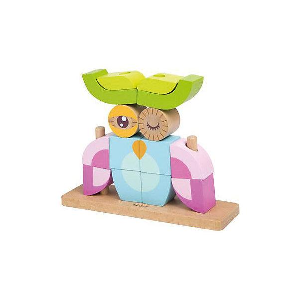 Вертикальный пазл из дерева Совенок, Classic WorldРазвивающие игрушки<br>Характеристики товара:<br><br>• возраст: от 1 года;<br>• материал: дерево;<br>• в комплекте: 14 деталей, подставка, 5 карточек с заданиями;<br>• размер упаковки: 21х16,5х6 см;<br>• вес упаковки: 700 гр.;<br>• страна производитель: Китай.<br><br>Вертикальный пазл из дерева «Совенок» Classic World — увлекательный оригинальный пазл, который позволяет строить объемные фигуры вертикально. Из деревянных блоков собираются животные, птицы, карета, домик и многое другое. Карточки с заданиями помогут ребенку освоить технику построения разных фигурок.<br><br>Сборка пазла способствует развитию мелкой моторики рук, логического мышления, тактильного и зрительного восприятия, поможет малышу выучить формы, цвета, основы счета. Все детали выполнены из качественного натурального дерева и отшлифованы.<br><br>Вертикальный пазл из дерева «Совенок» Classic World можно приобрести в нашем интернет-магазине.<br>Ширина мм: 190; Глубина мм: 220; Высота мм: 60; Вес г: 400; Возраст от месяцев: 12; Возраст до месяцев: 2147483647; Пол: Унисекс; Возраст: Детский; SKU: 6844307;